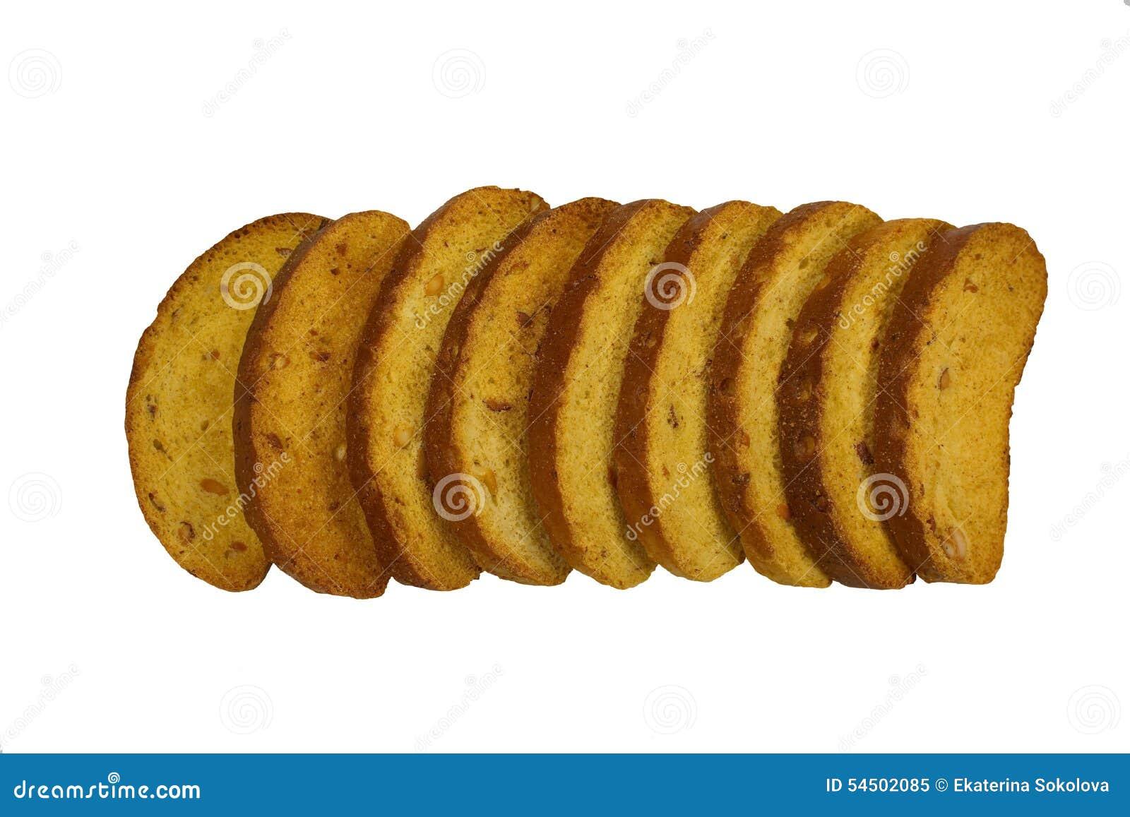 Biscottes avec des écrous