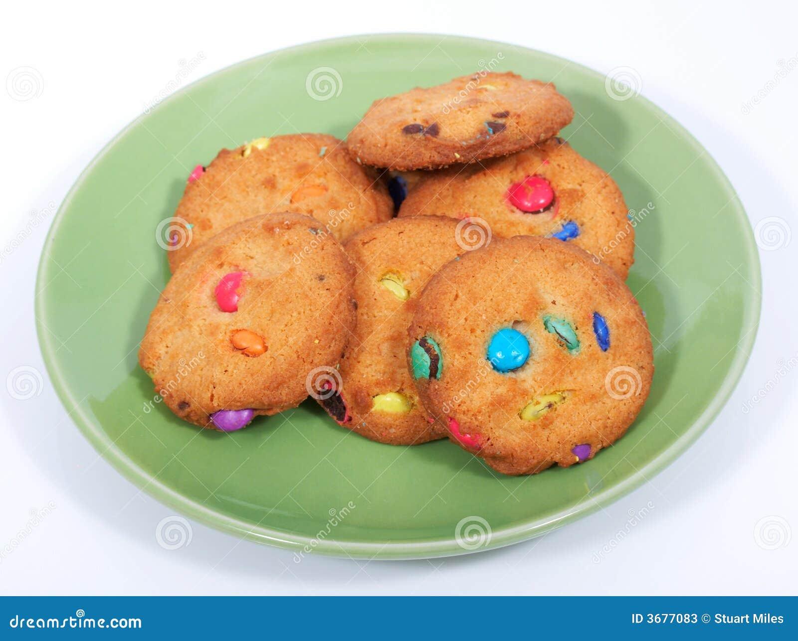 Download Biscotti immagine stock. Immagine di piastra, biscotto - 3677083