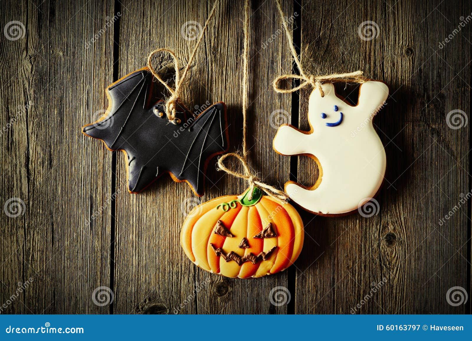 Biscotti casalinghi del pan di zenzero di Halloween