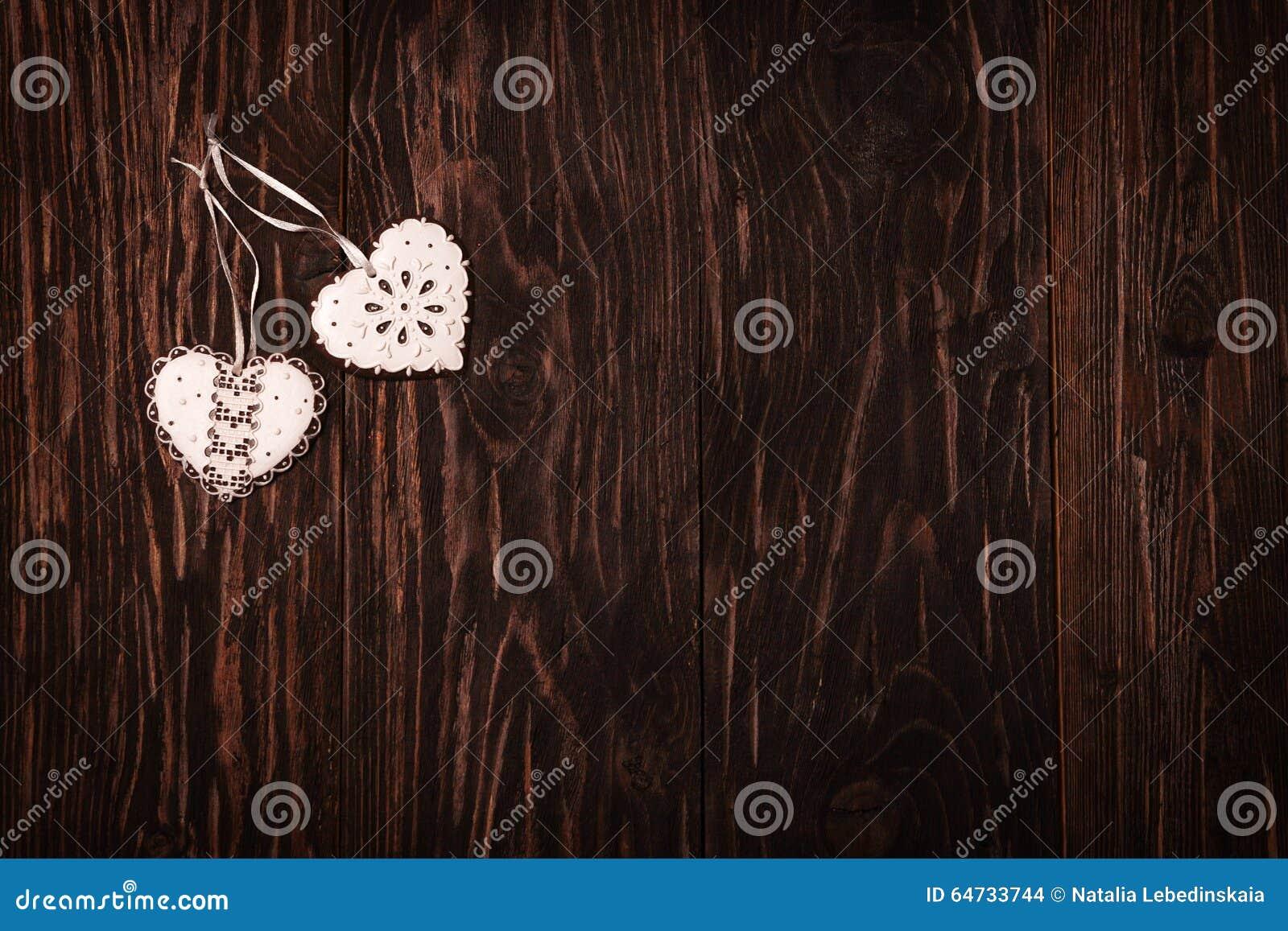 Biscotti dei cuori del giocattolo, San Valentino di concetto