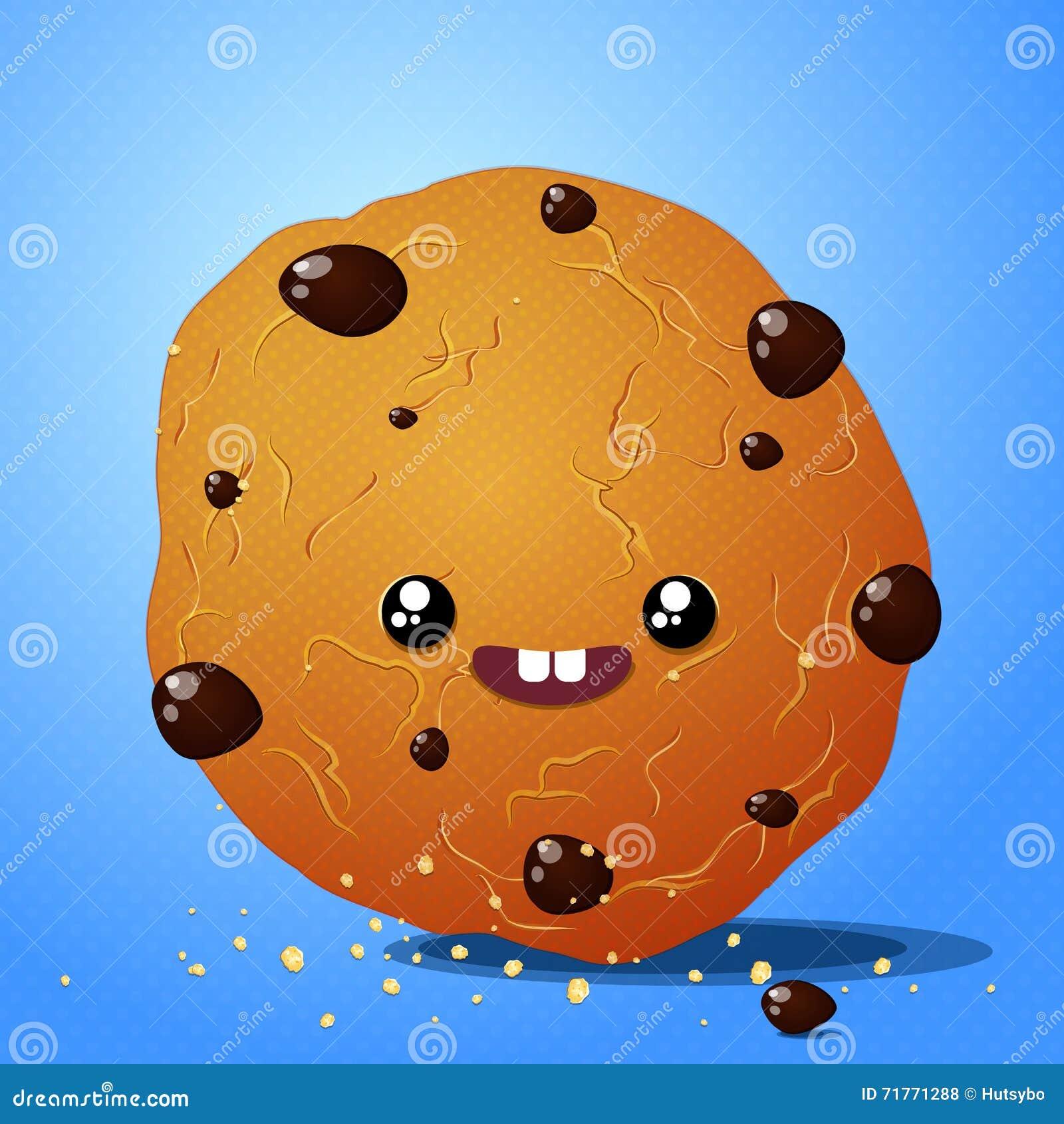 Biscotti del cioccolato di Kawaii