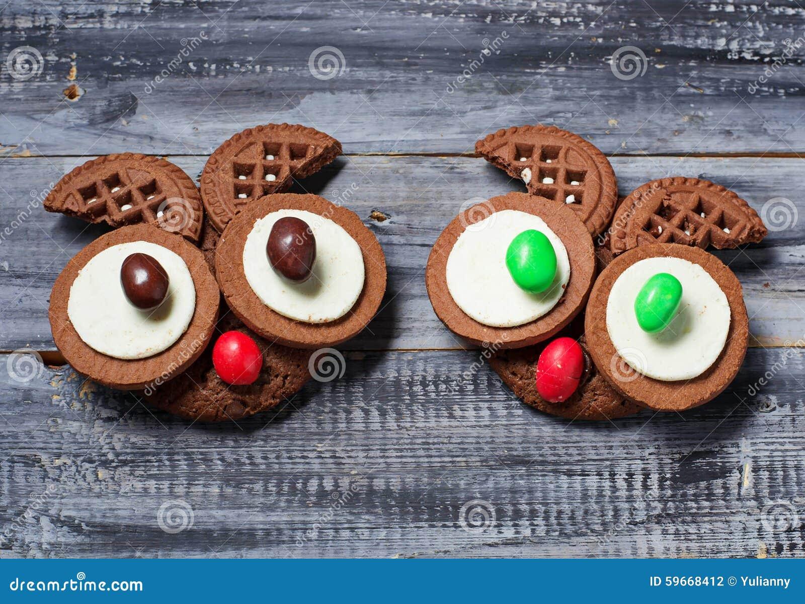 Biscotti Del Gufo Di Halloween Per Il Partito Fotografia Stock ... 53f45bb49904
