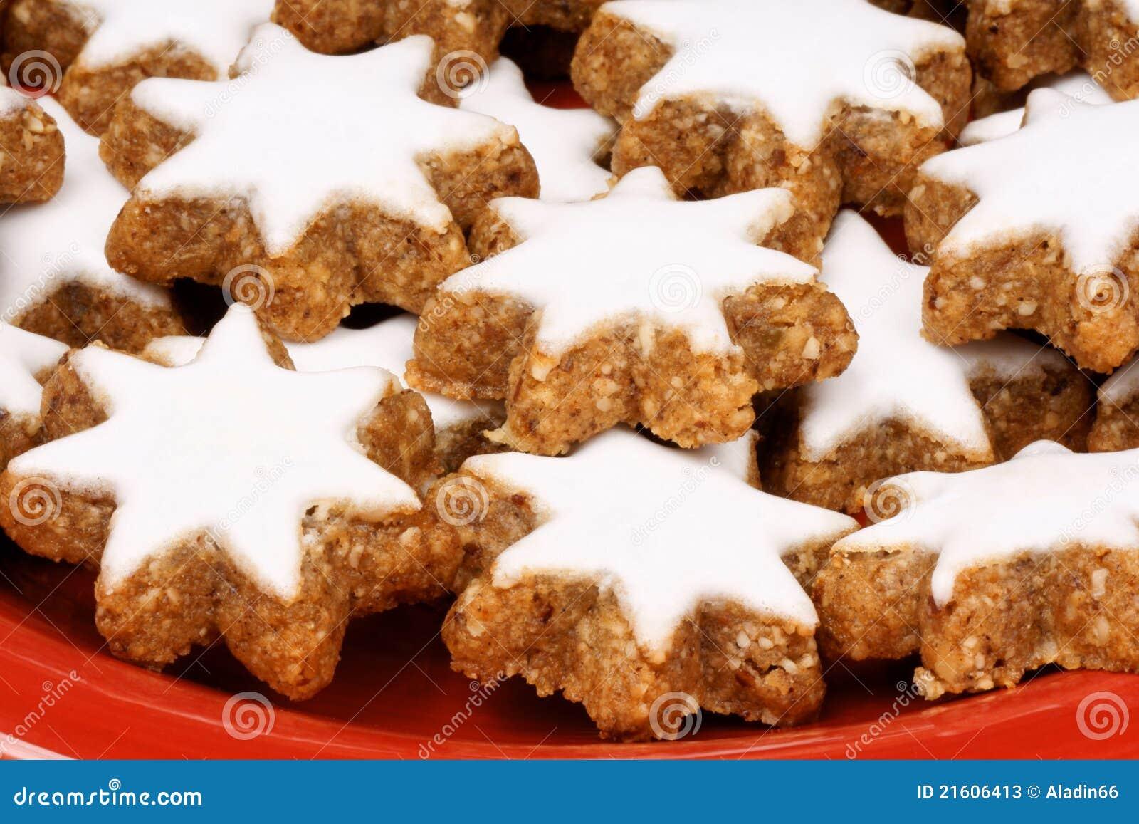 Biscotti Di Natale Zimtsterne.Biscotti Della Stella Della Cannella Zimtsterne Immagine Stock Immagine Di Natale Studio 21606413