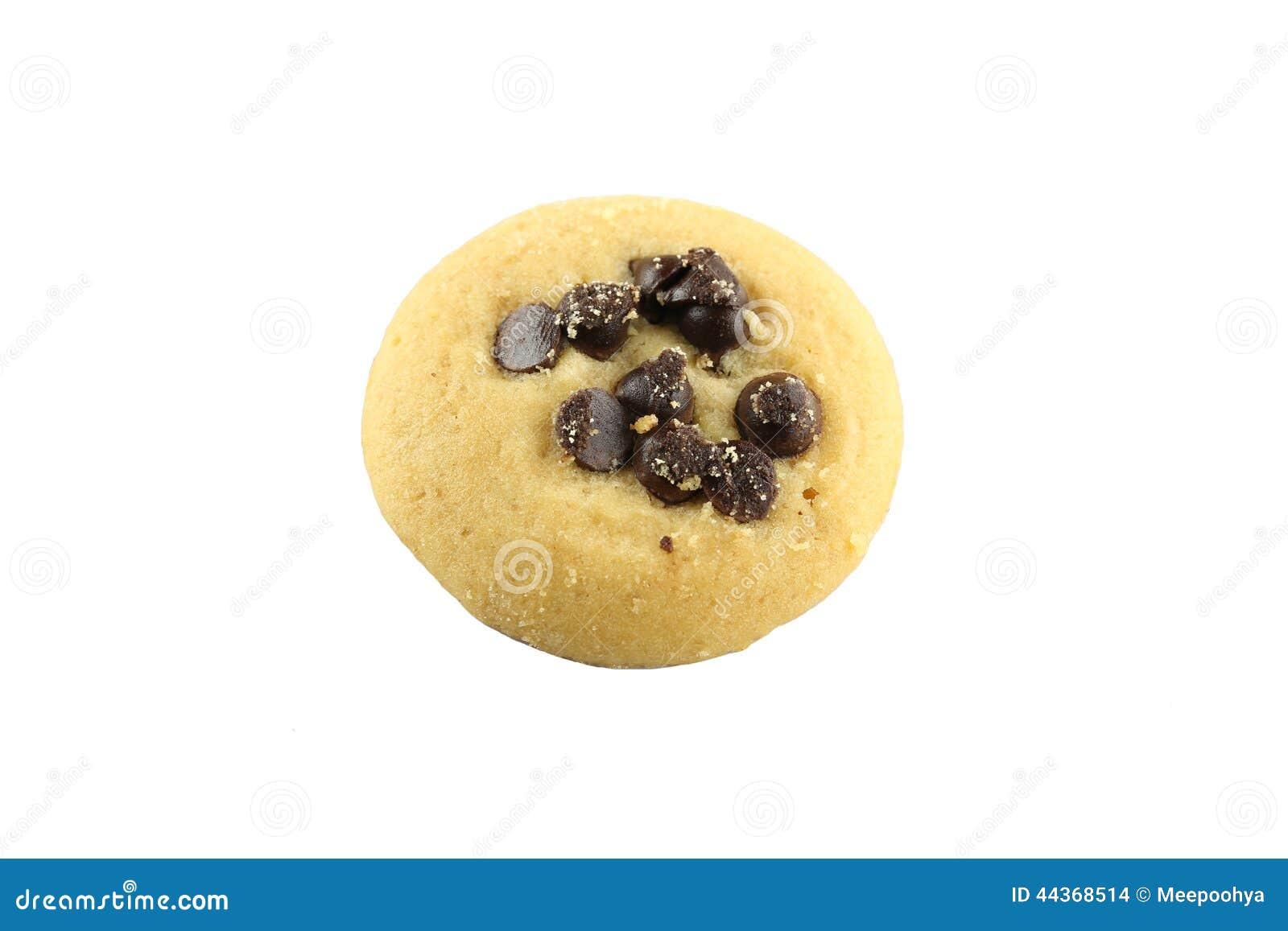 Biscotti di pepita di cioccolato isolati