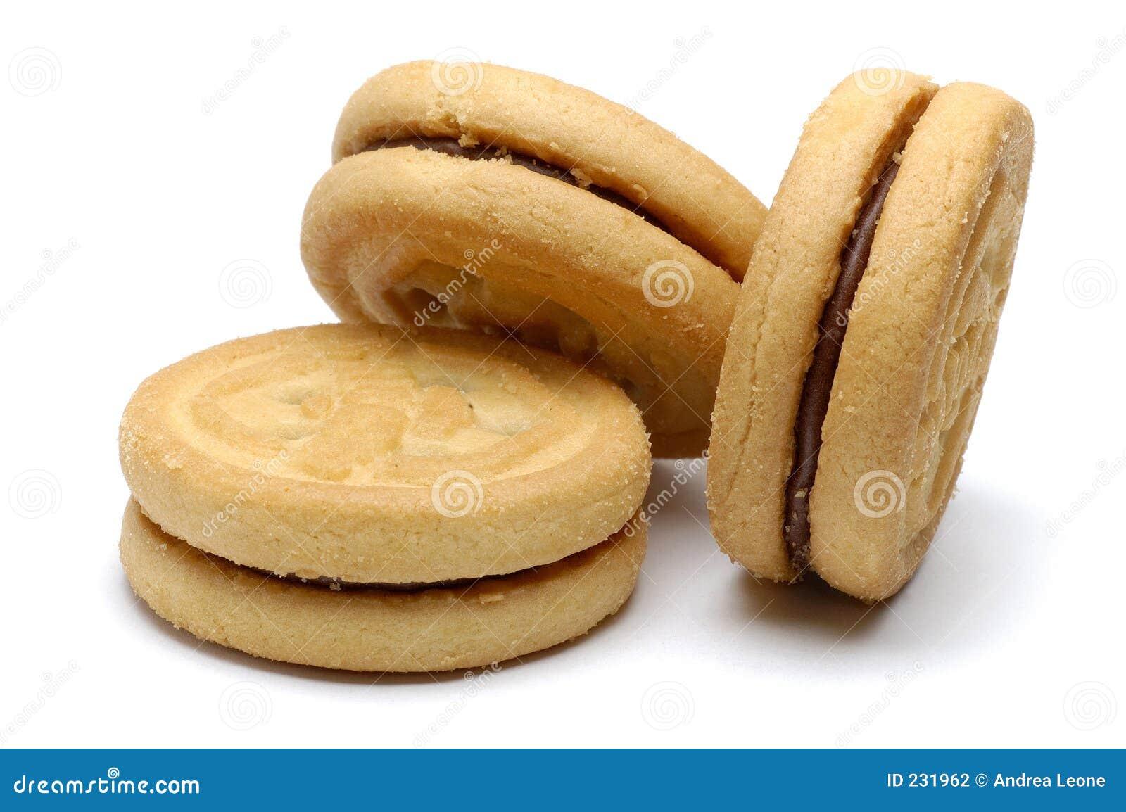 Biscotti di Sandwitch del cioccolato