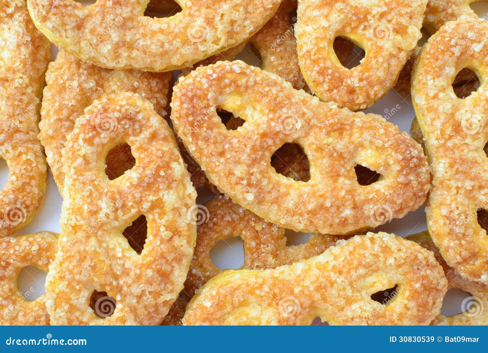 Biscotti di zucchero a forma di della ciambellina salata