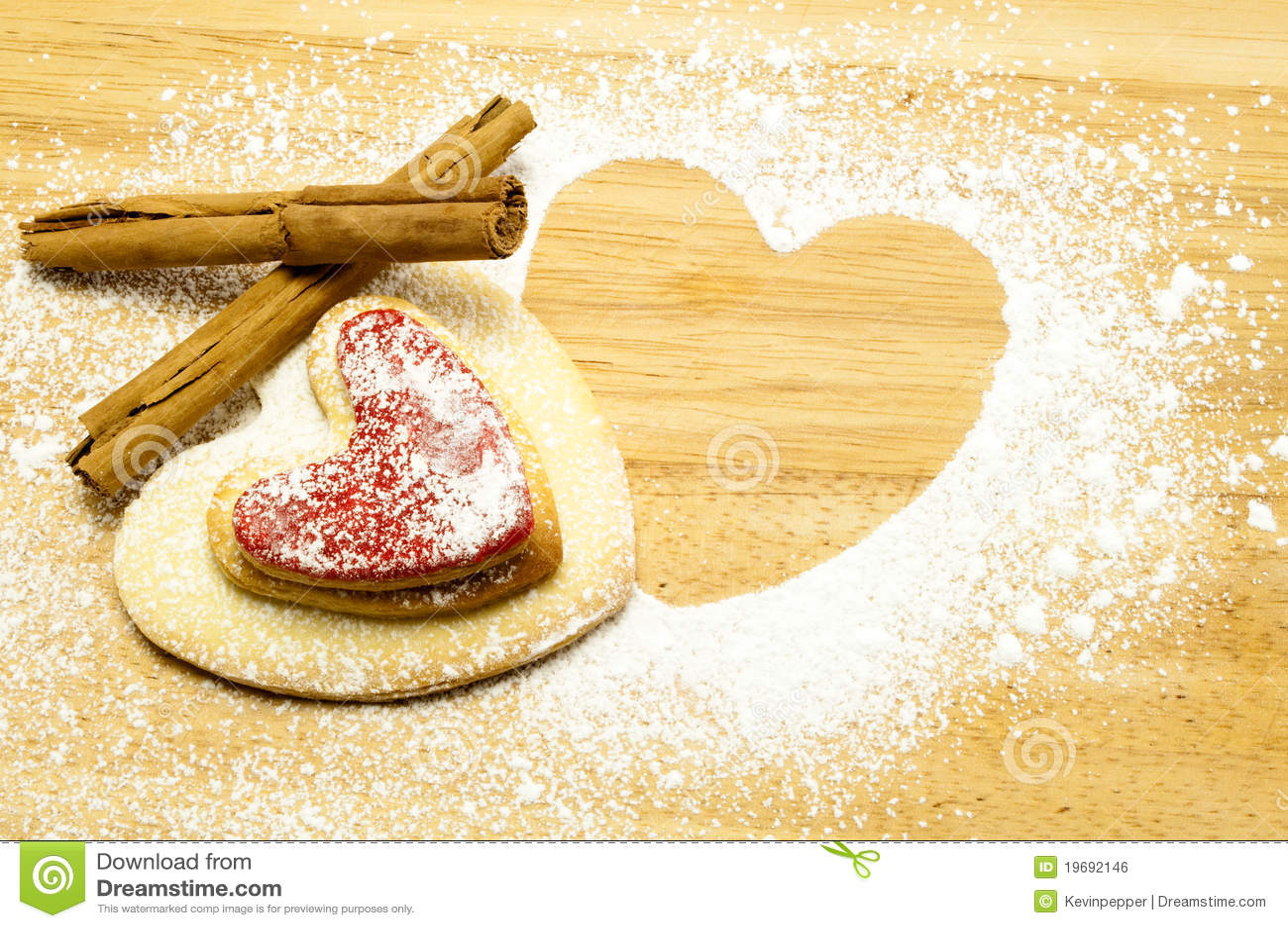 Biscotti a forma di del cuore