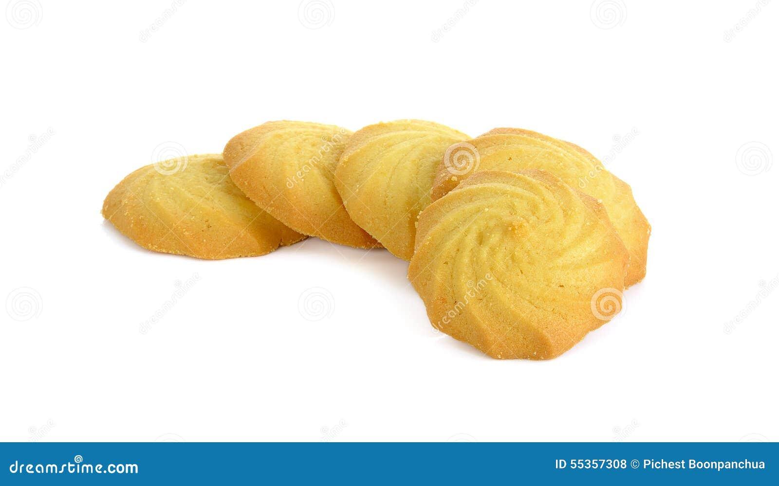 Biscotti isolati sui precedenti bianchi