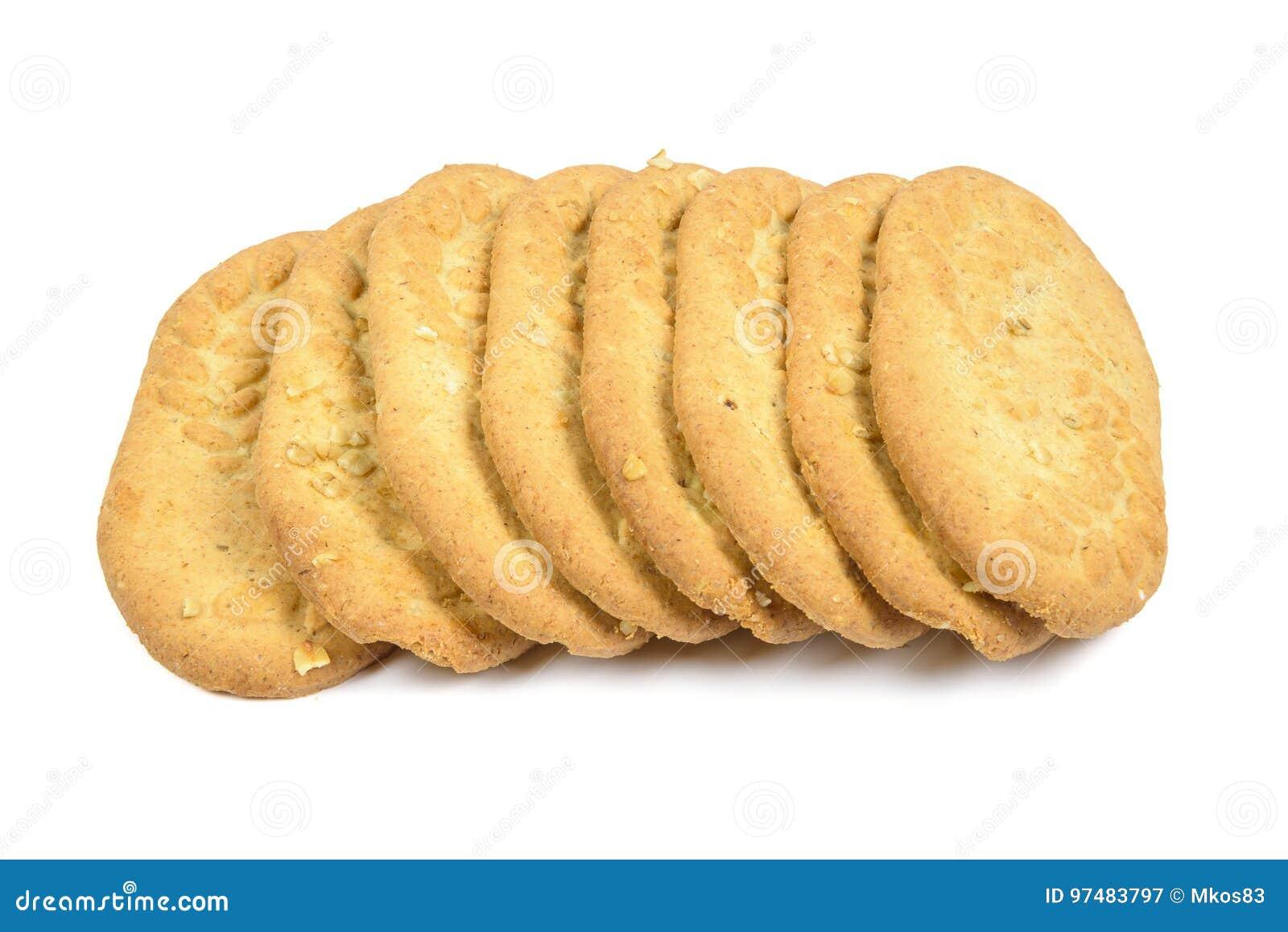 Biscotti su priorità bassa bianca