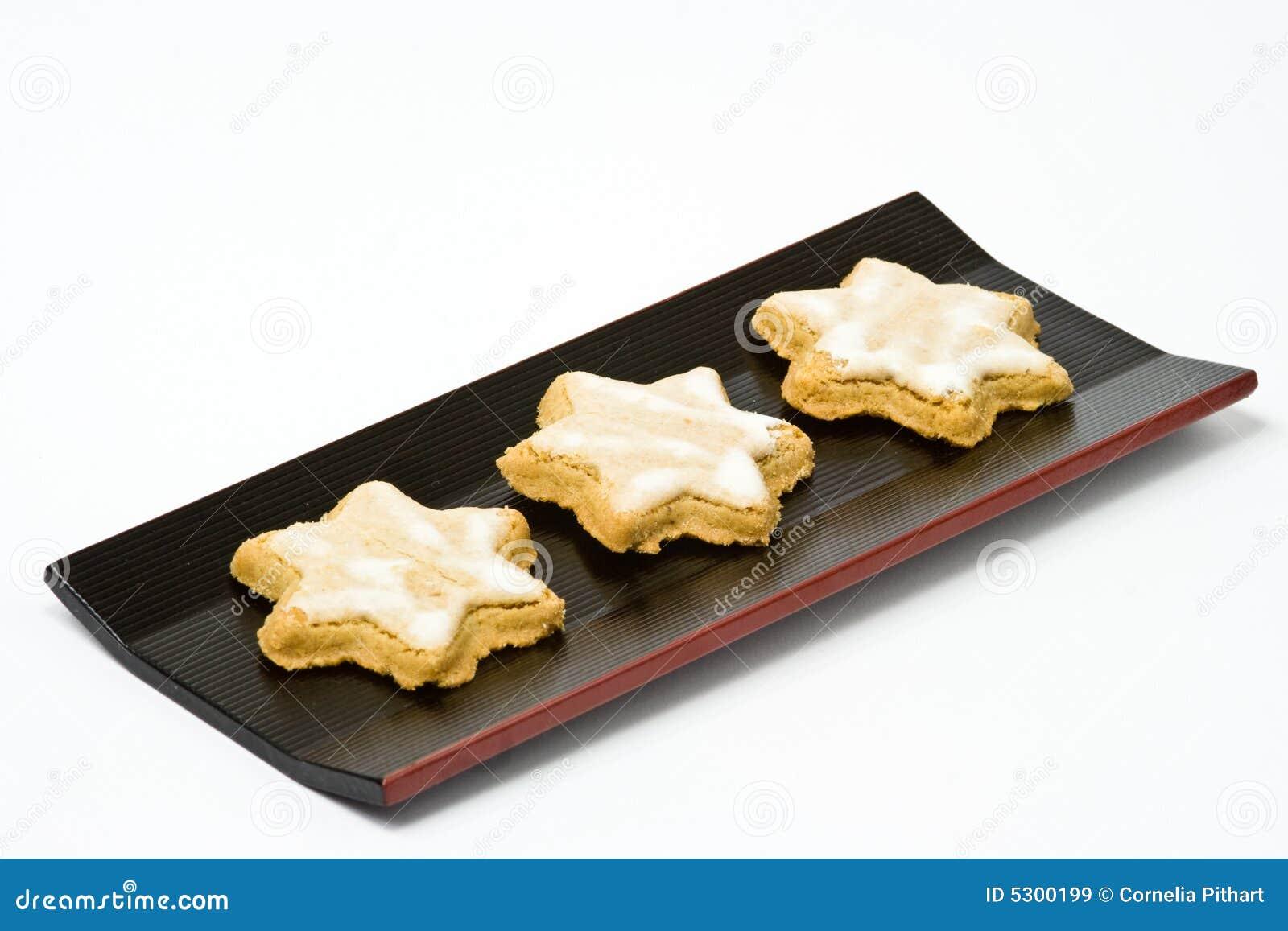 Download Biscotto A Forma Di Stella Della Cannella Immagine Stock - Immagine di beige, torta: 5300199