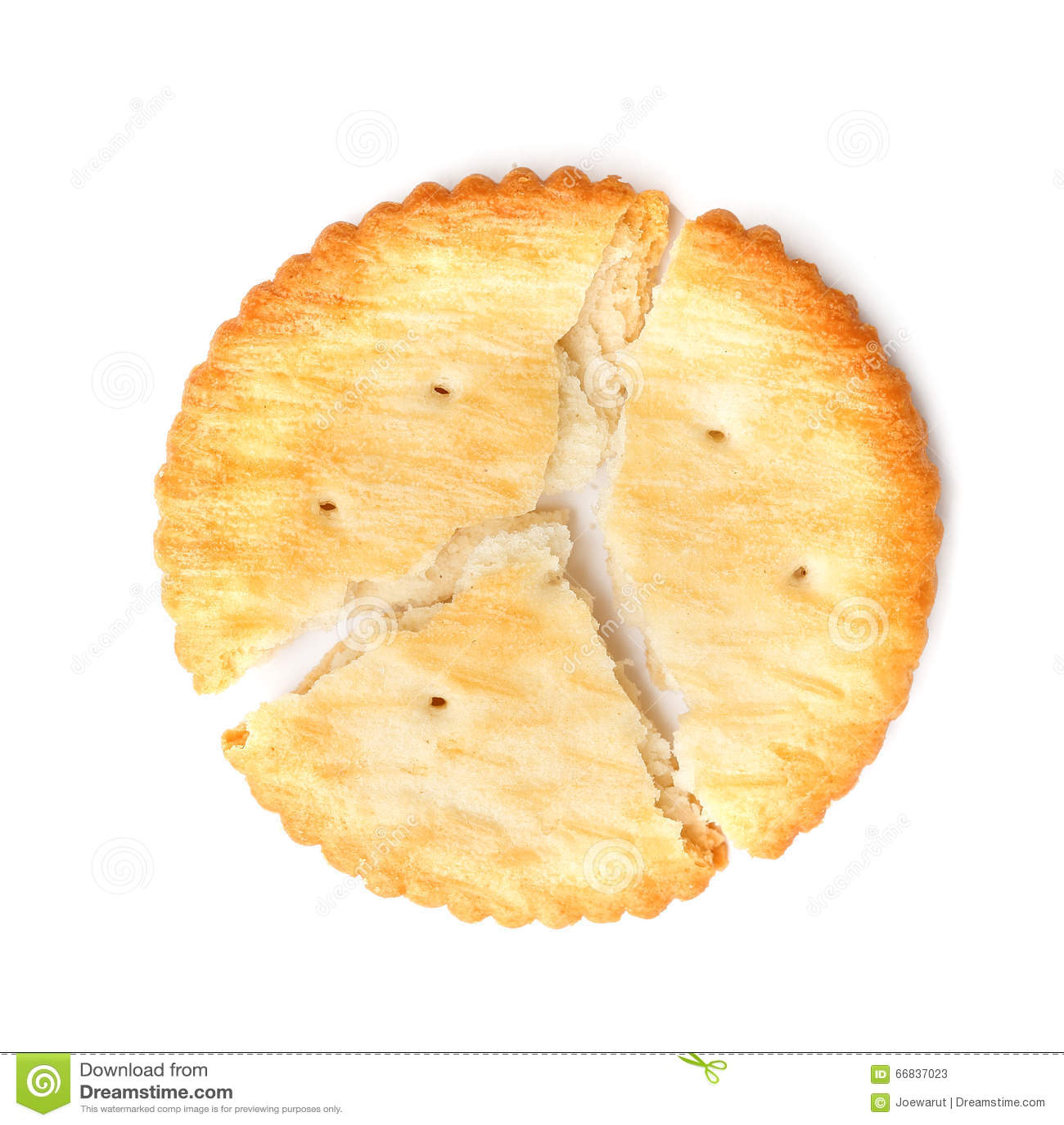 Biscotto incrinato