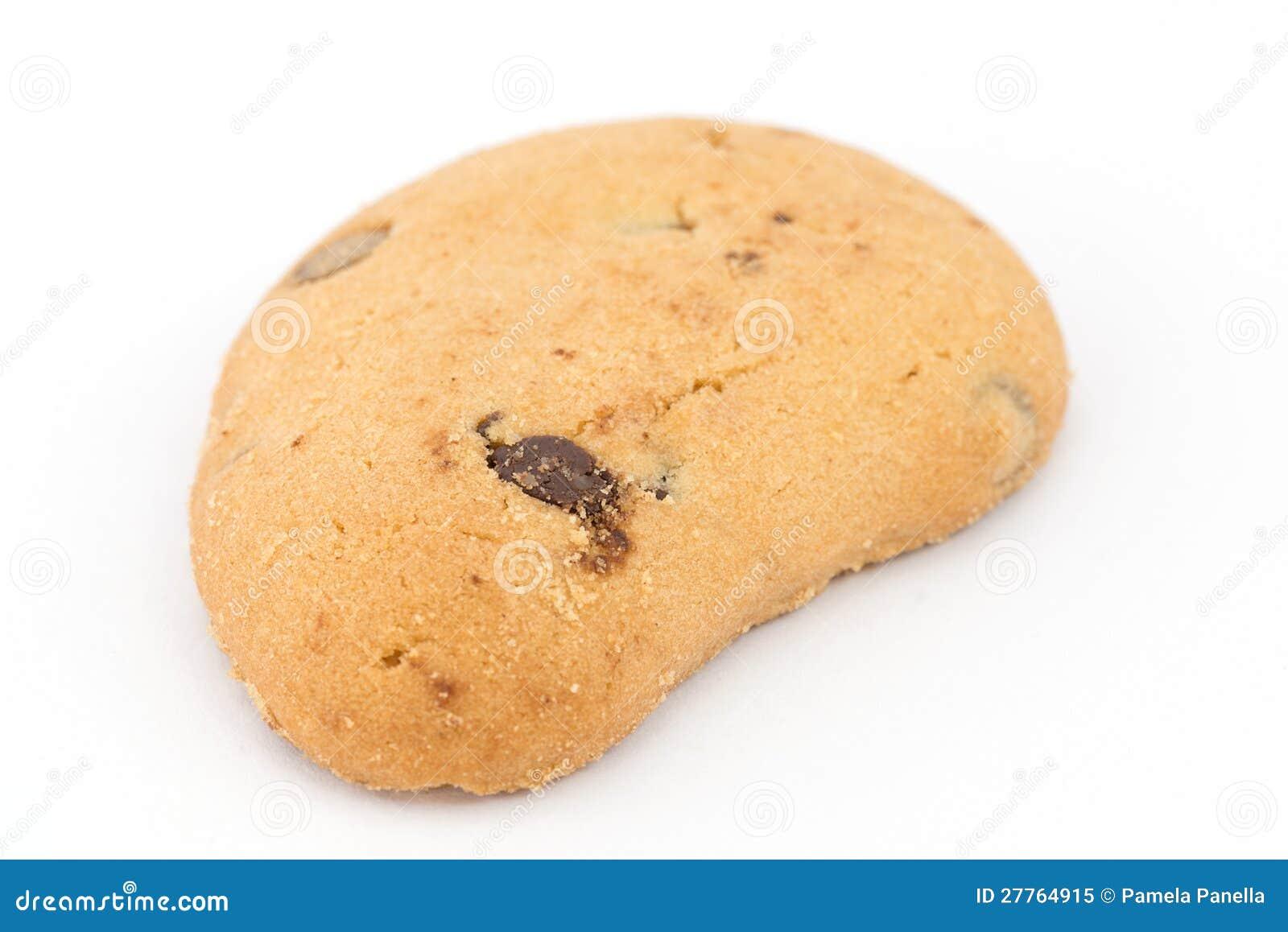 Biscuit avec des puces de chocolat