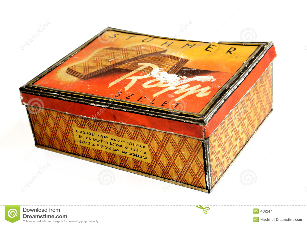 Download Biscuit box stock image. Image of cake, canister, retro - 468247
