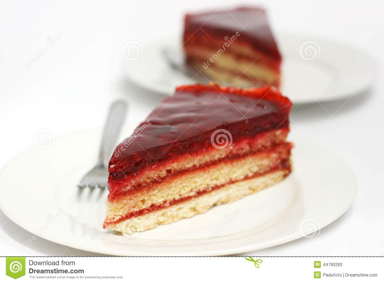 Cartoon Jelly Cake Recipe: Pieces Of Biscuit Cake Royalty-Free Stock Photo