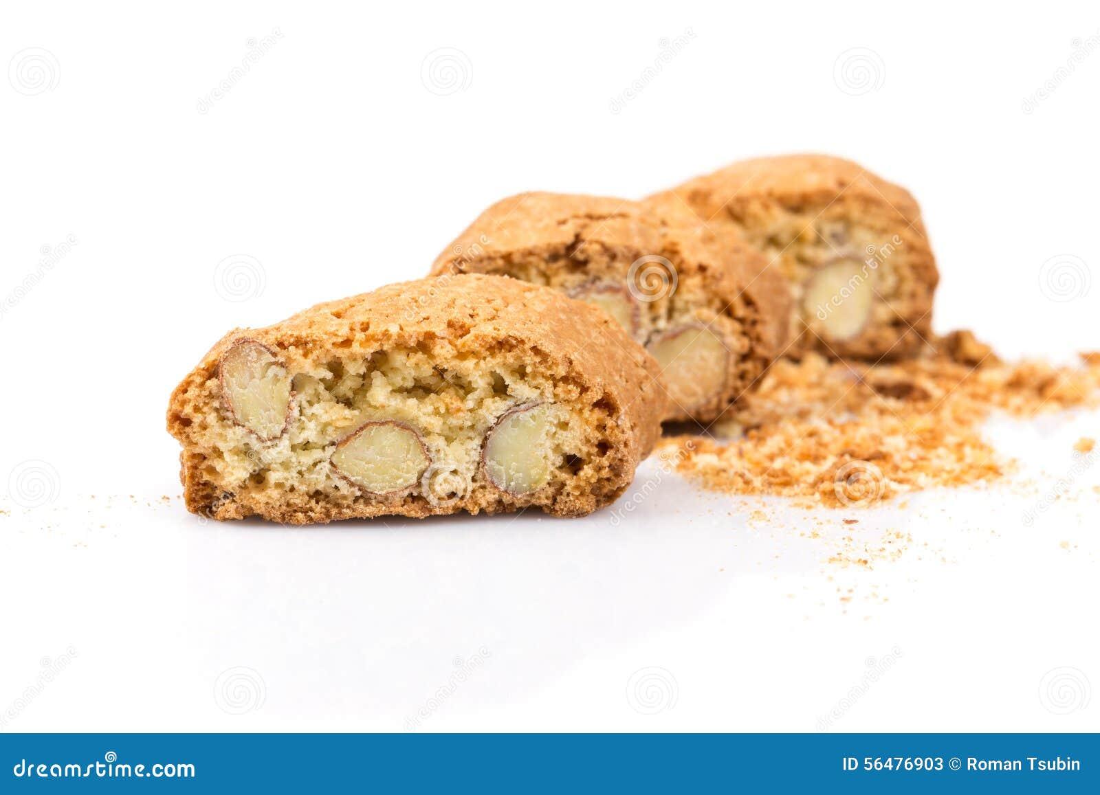 Biscuit italien de cantuccini avec l amande