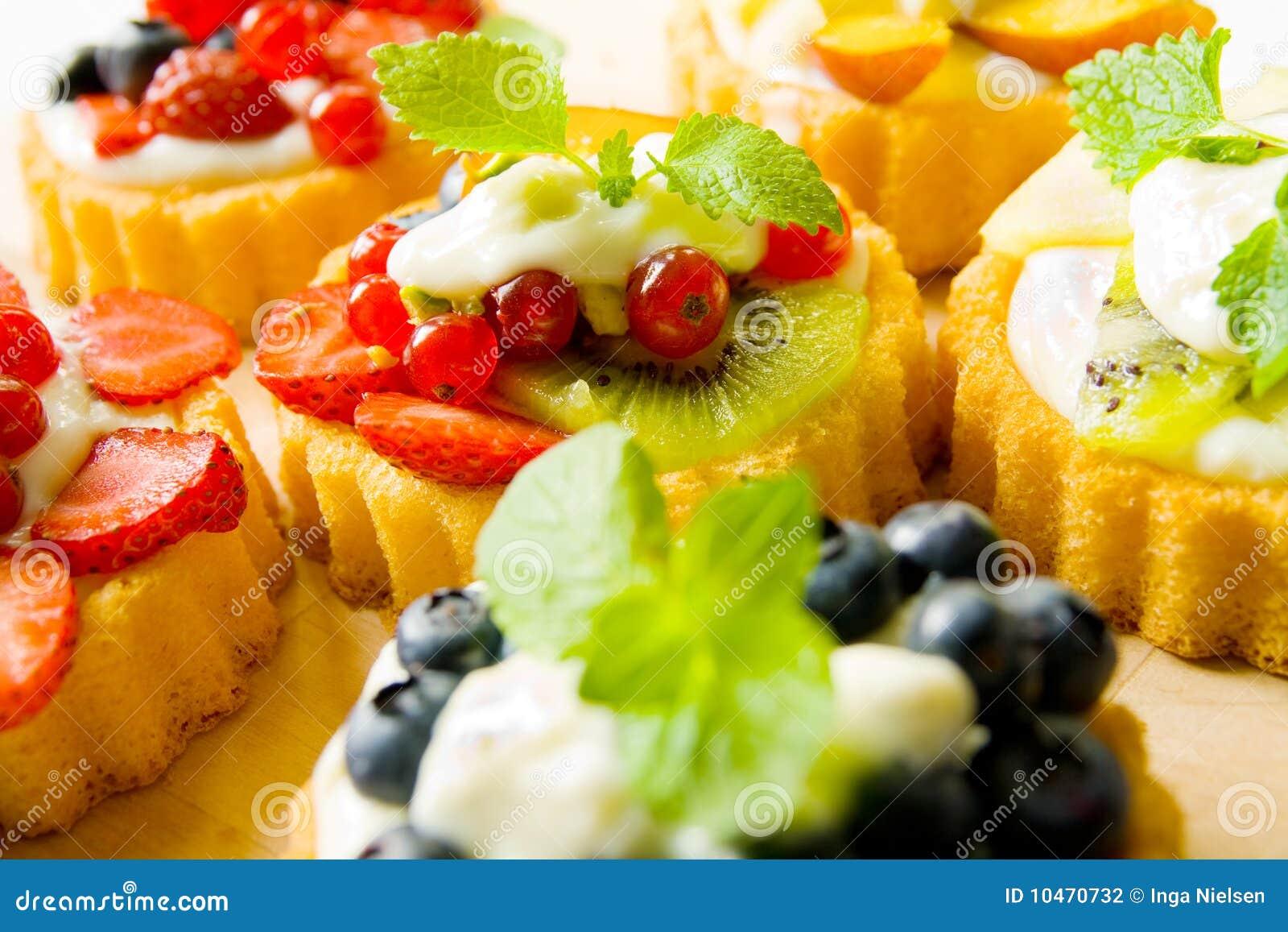 Biscuit tarts stock photo. Image of fruit, garnished