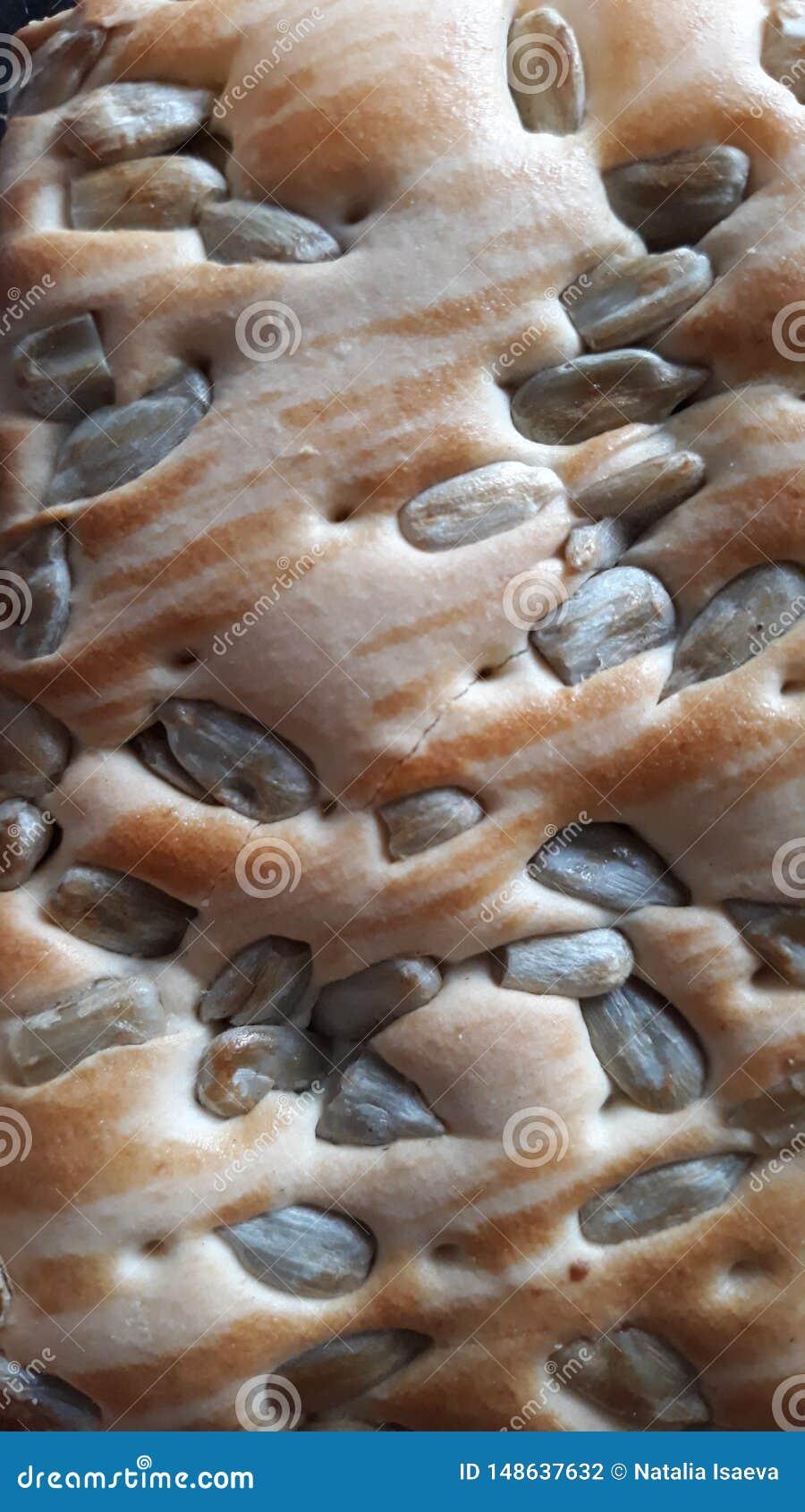 Biscuits cuits au four avec des graines de tournesol