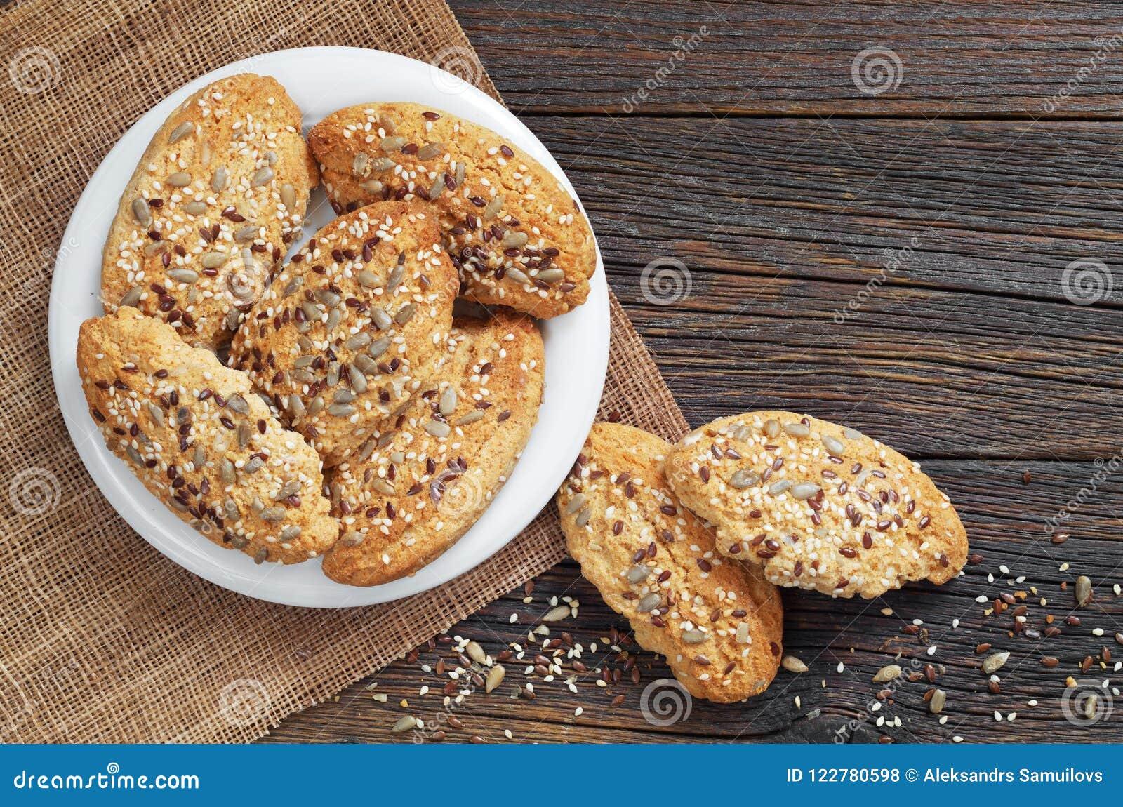 Biscuits d avoine avec des graines