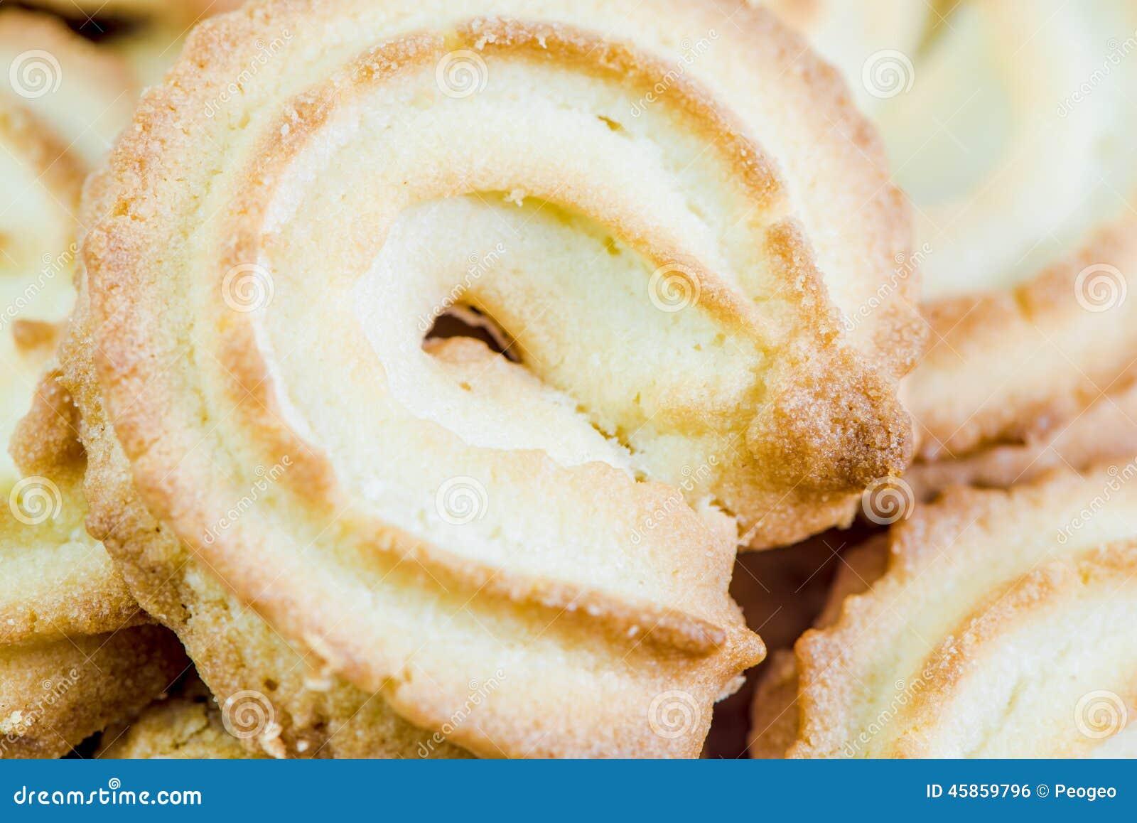 Biscuits de beurre danois macro