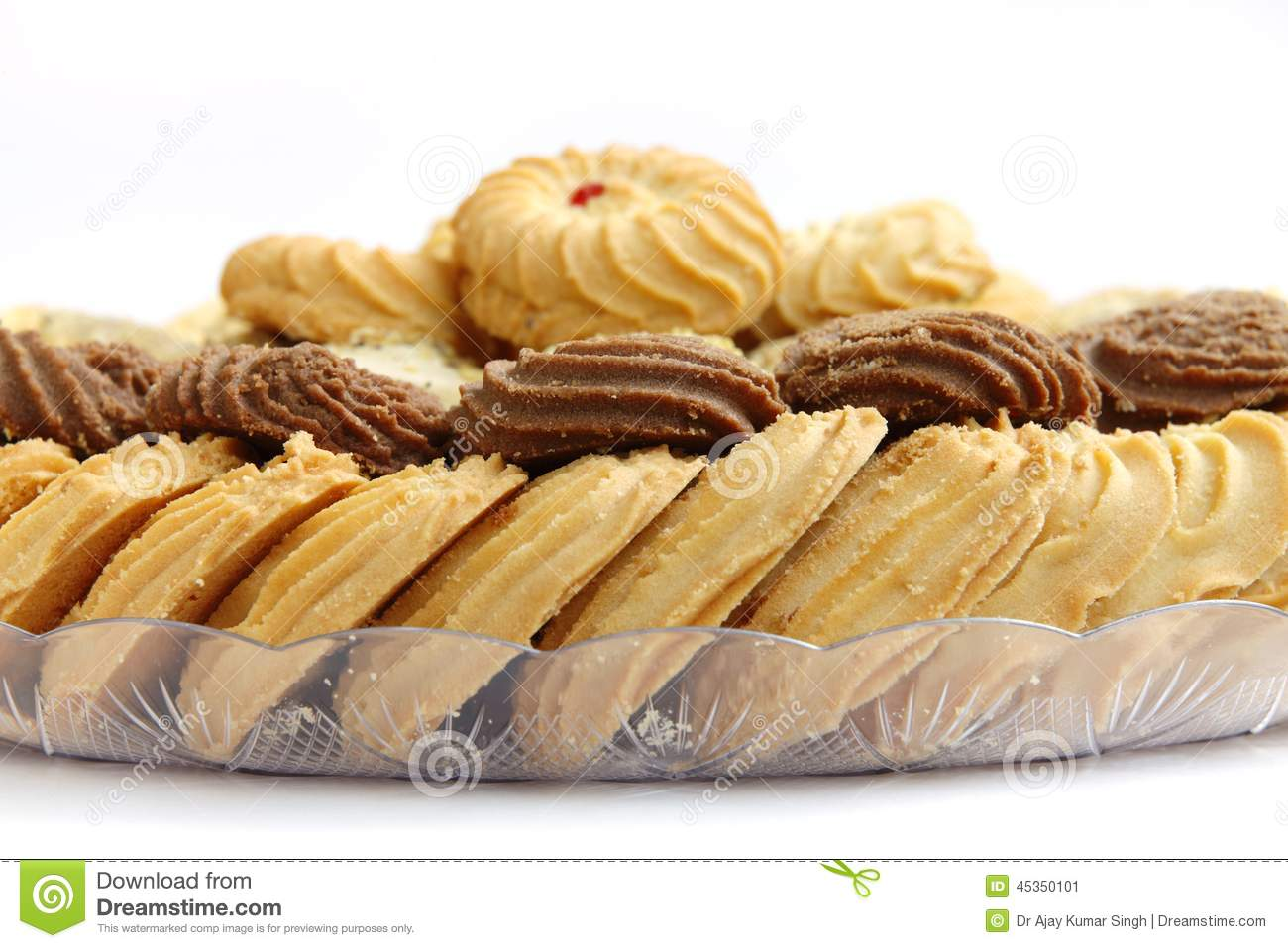 Biscuits de Delcious et biscuits, foyer sur des biscuits de cacao