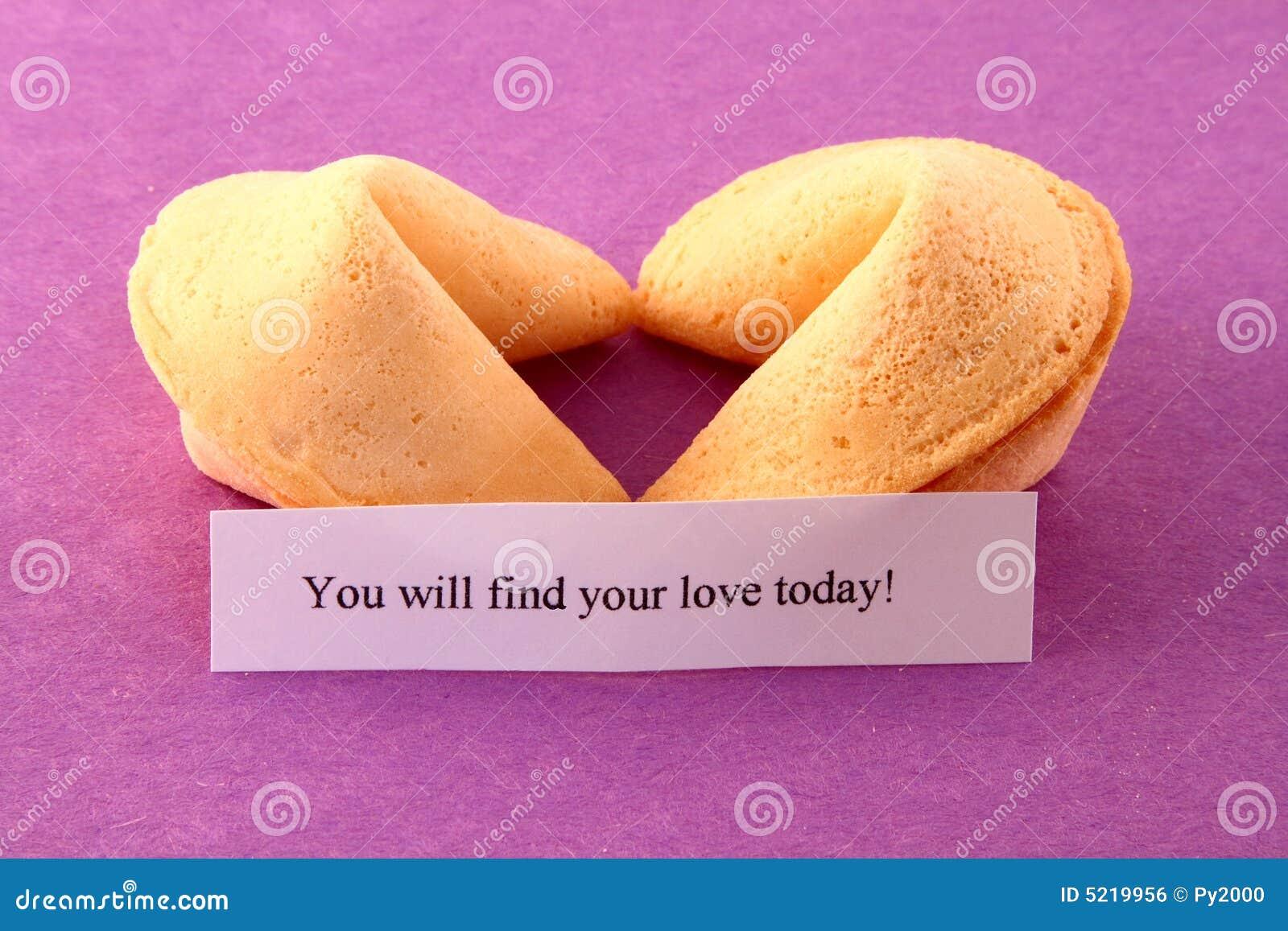 Biscuits de fortune en forme de coeur