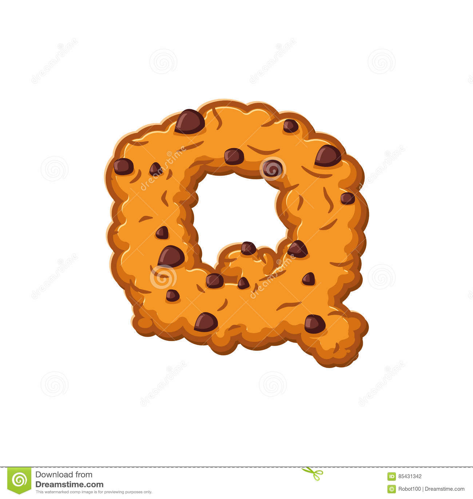 Biscuits De Lettre De Q Police De Biscuit Symbole D'alphabet De Biscuit De  Farine D'avoine Illustration de Vecteur - Illustration du alphabet, farine:  85431342