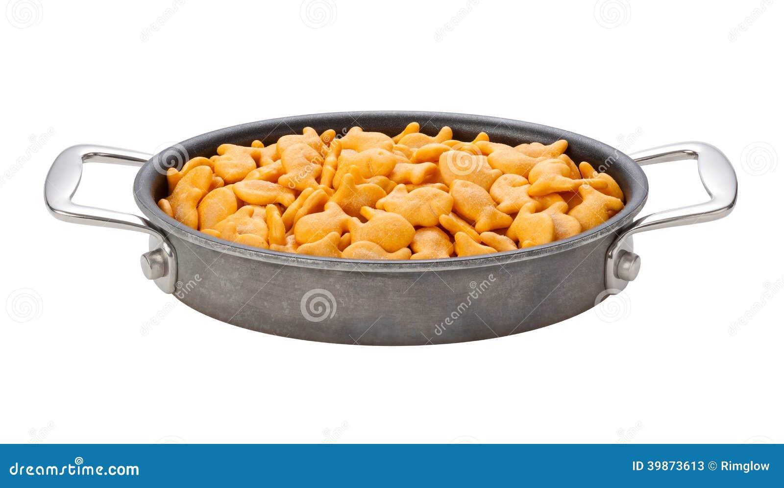 Biscuits de poisson rouge dans une casserole ovale image for Nourriture poisson rouge pour une semaine