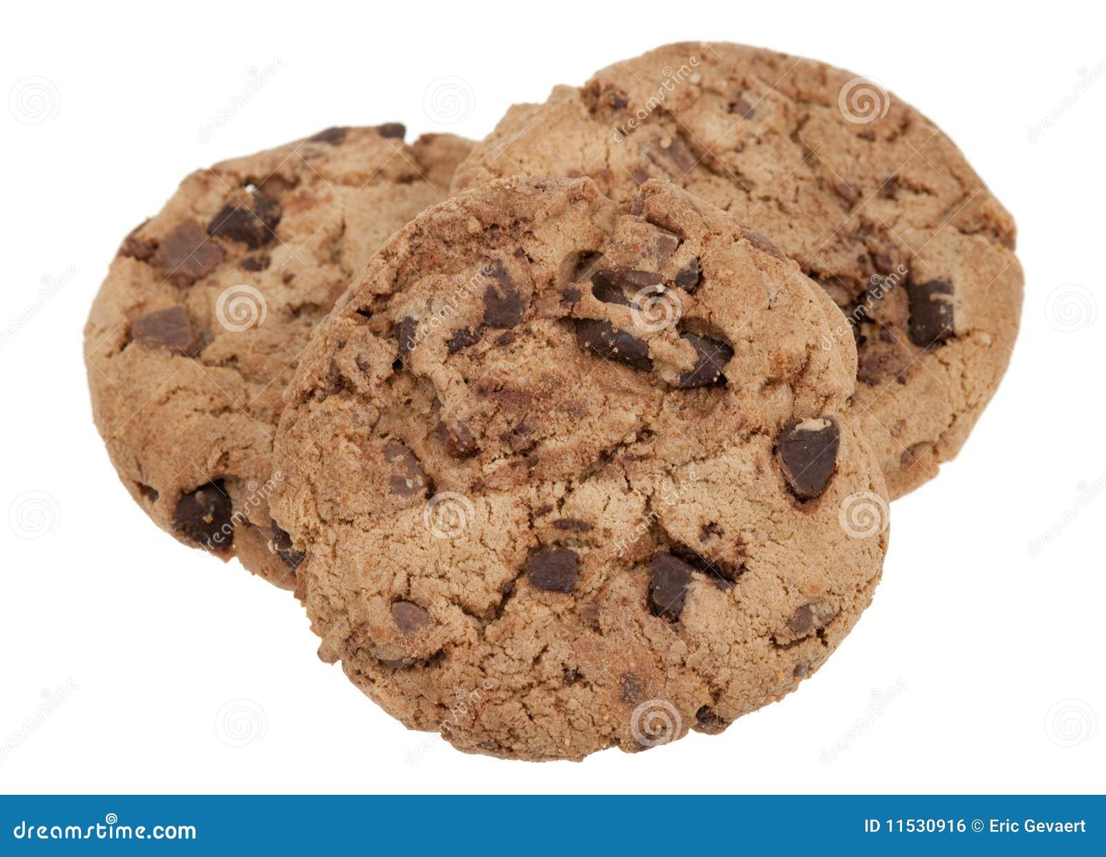 Biscuits de puce de chocolat délicieux