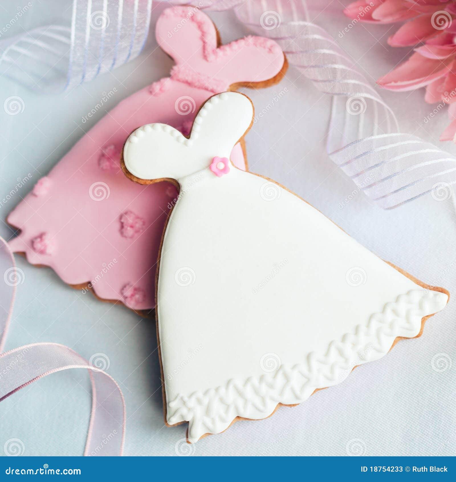 Biscuits de robe de mariage