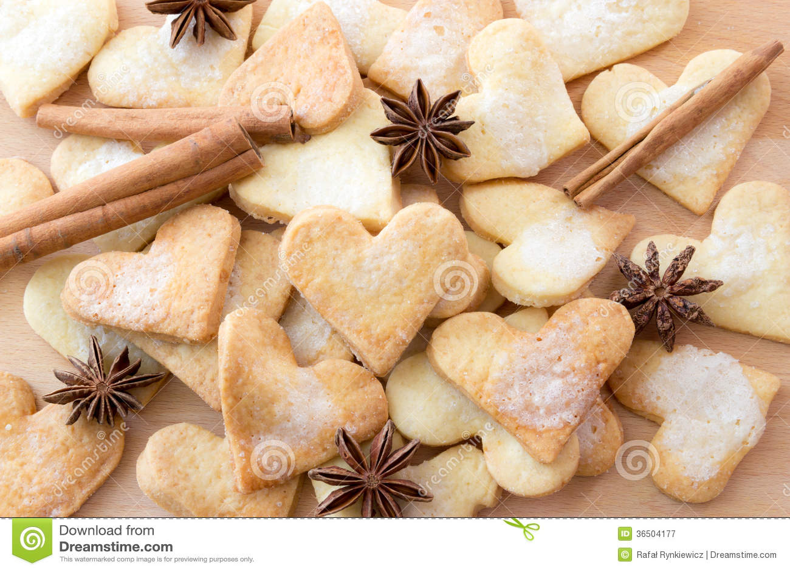 Biscuits de sucre formés par amoureux