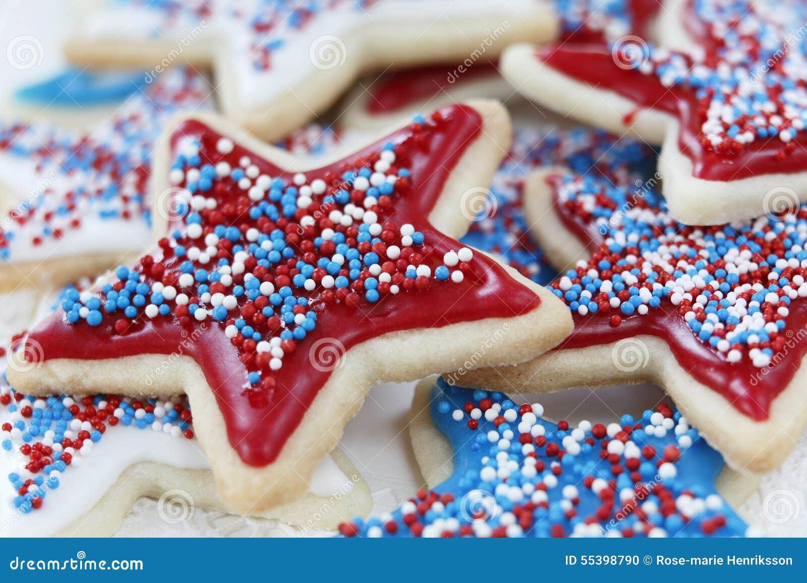 Biscuits de sucre pour le 4ème juillet