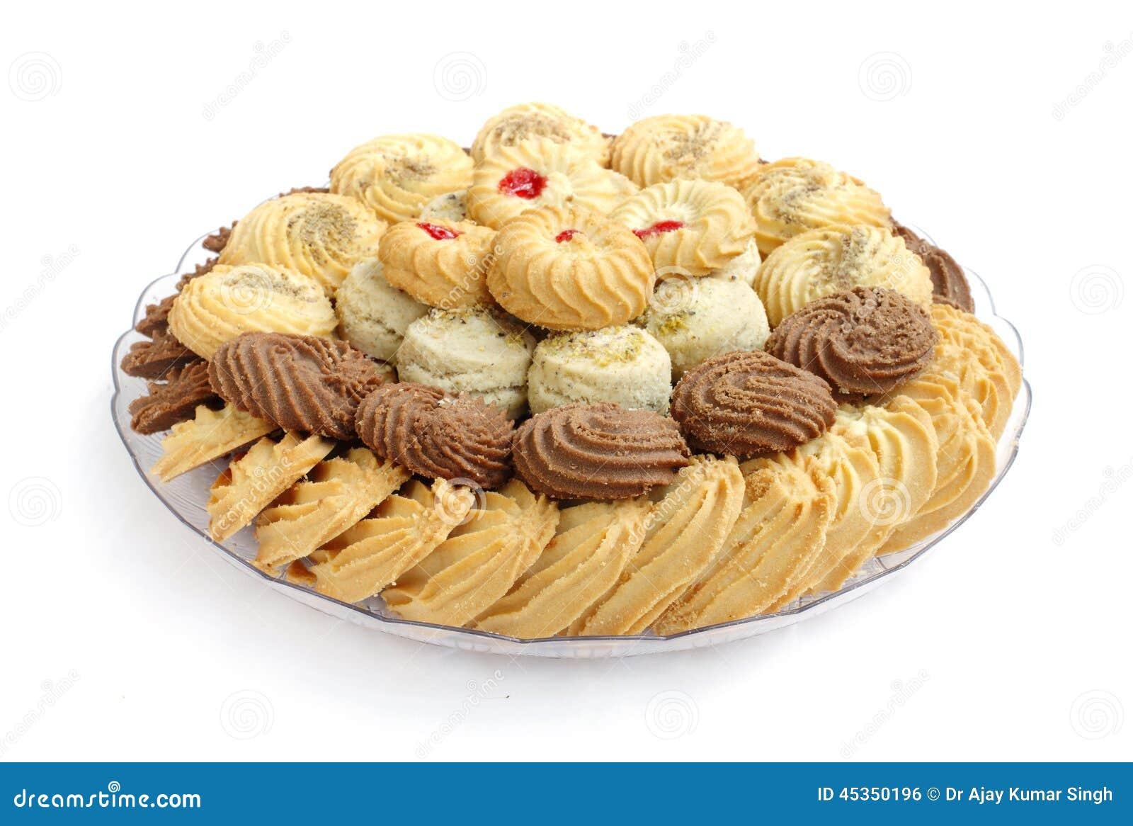 Biscuits et biscuits savoureux, foyer sur l avant