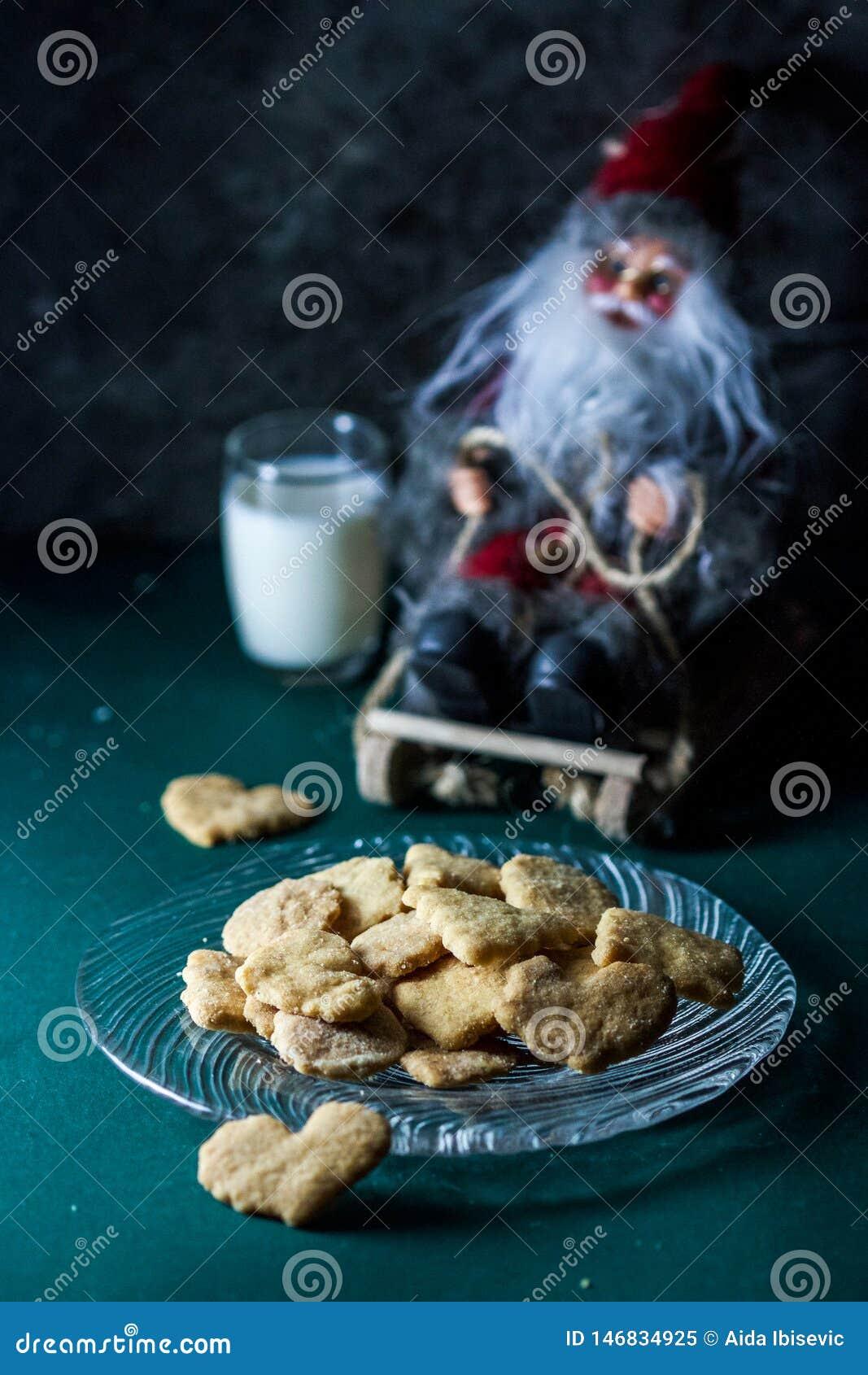 Biscuits et lait pour Santa Claus