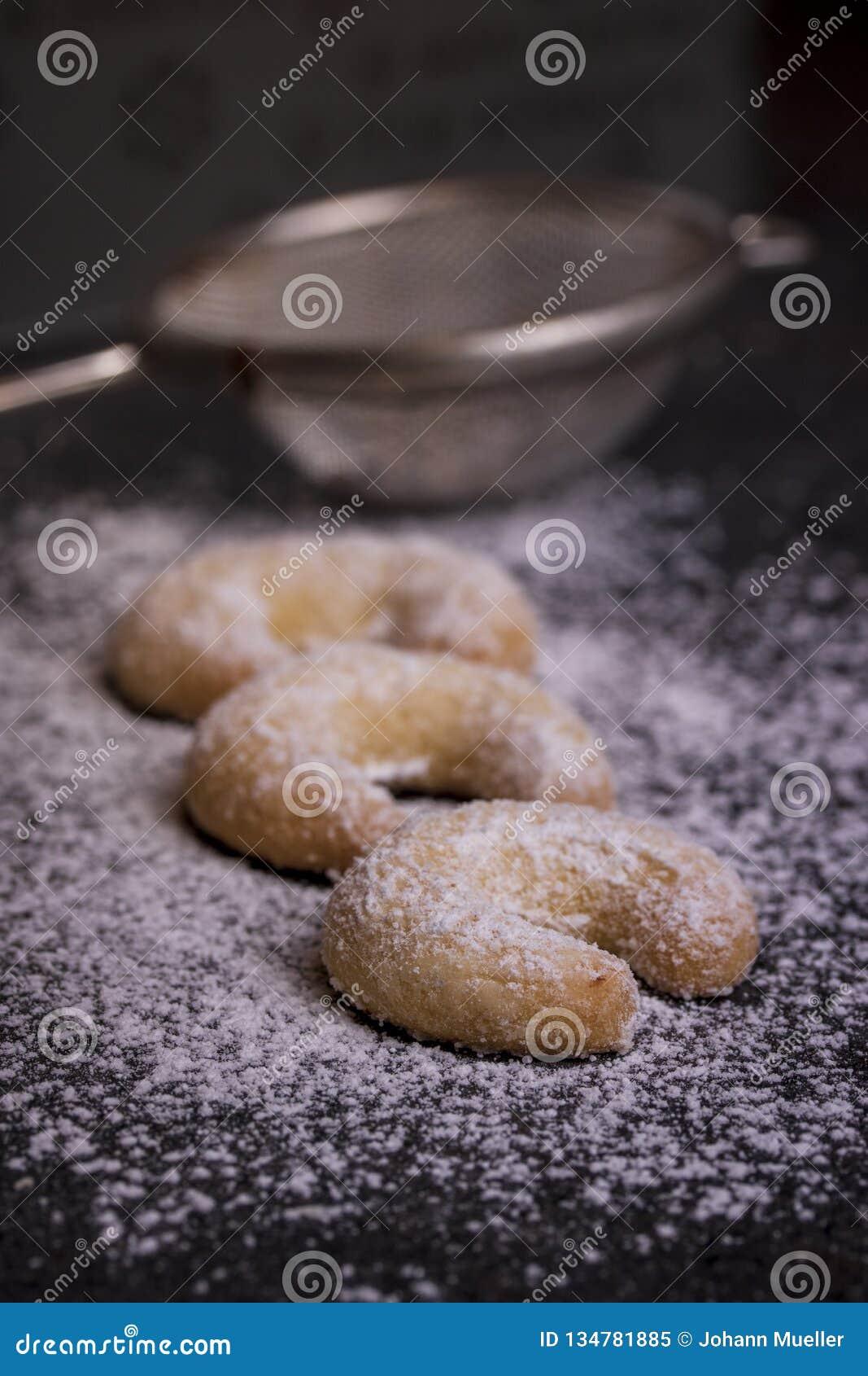 Biscuits frais de vanille avec Sugar For Christmas en poudre