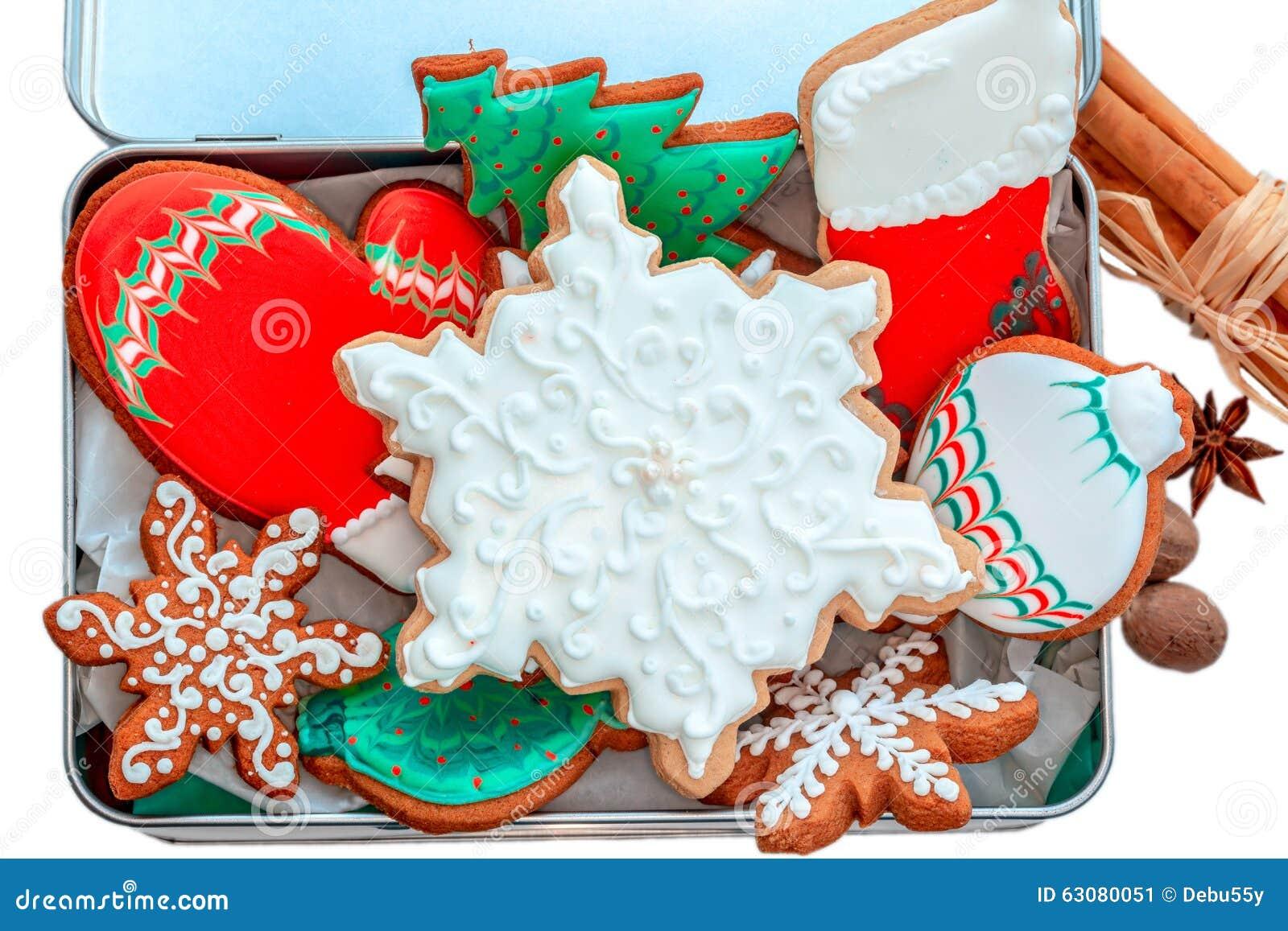 Download Biscuits glacés de Noël image stock. Image du festive - 63080051