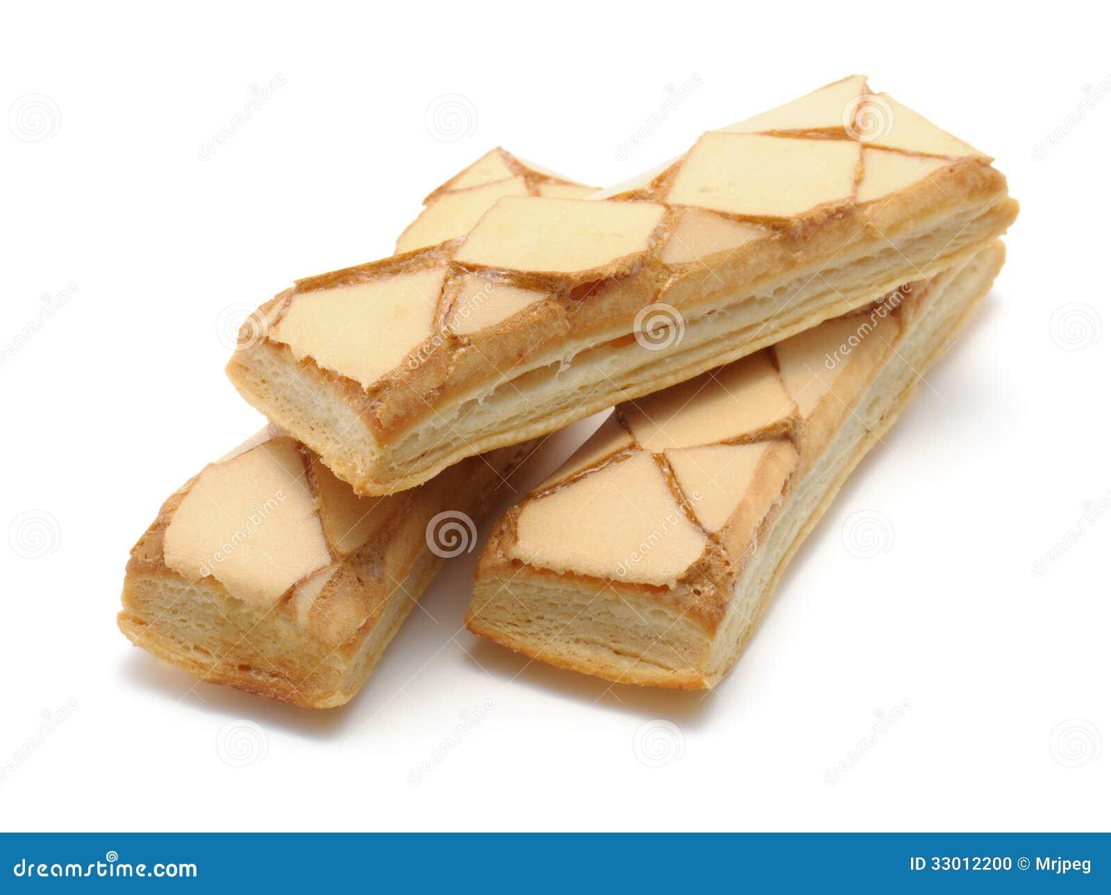 Biscuits glacés de pâte feuilletée