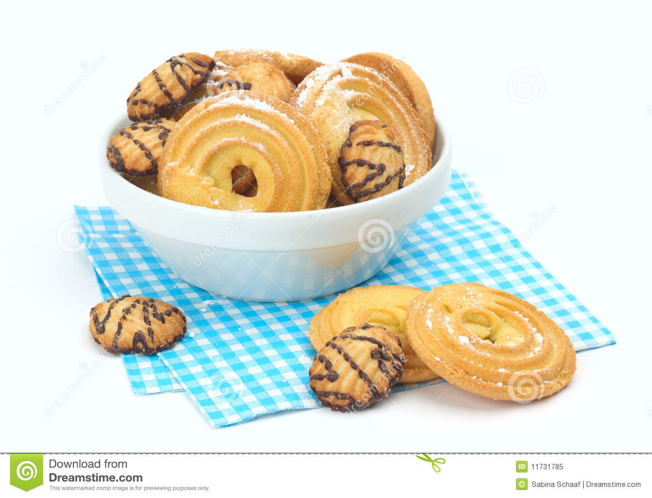 Biscuits With Icing Sugar Royalty Free Stock Photo - Image: 11731785