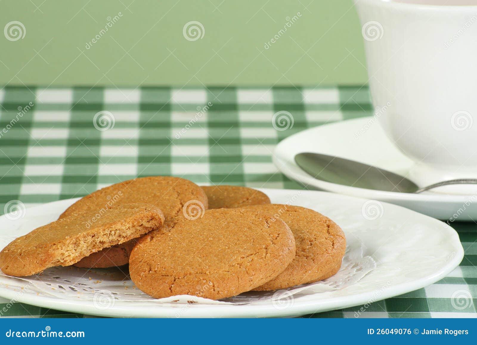 Biscuits instantanés de gingembre