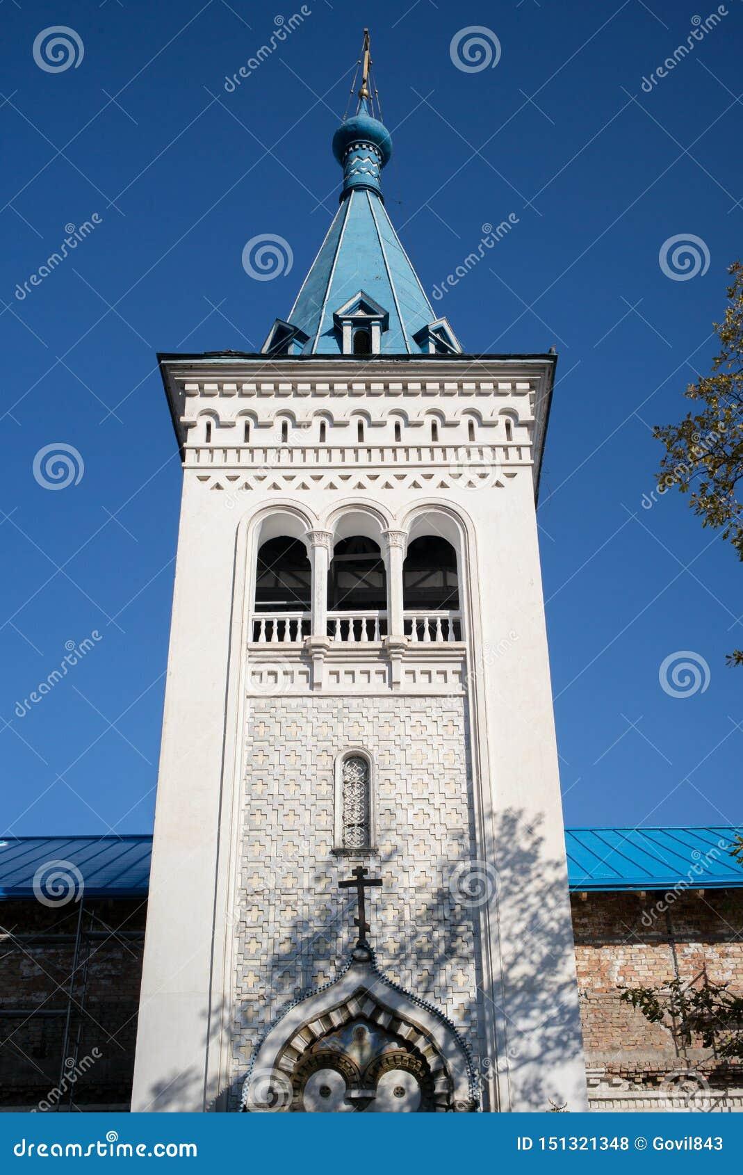 BISHKEK, QUIRGUIZISTÃO: Exterior da igreja ortodoxa do russo