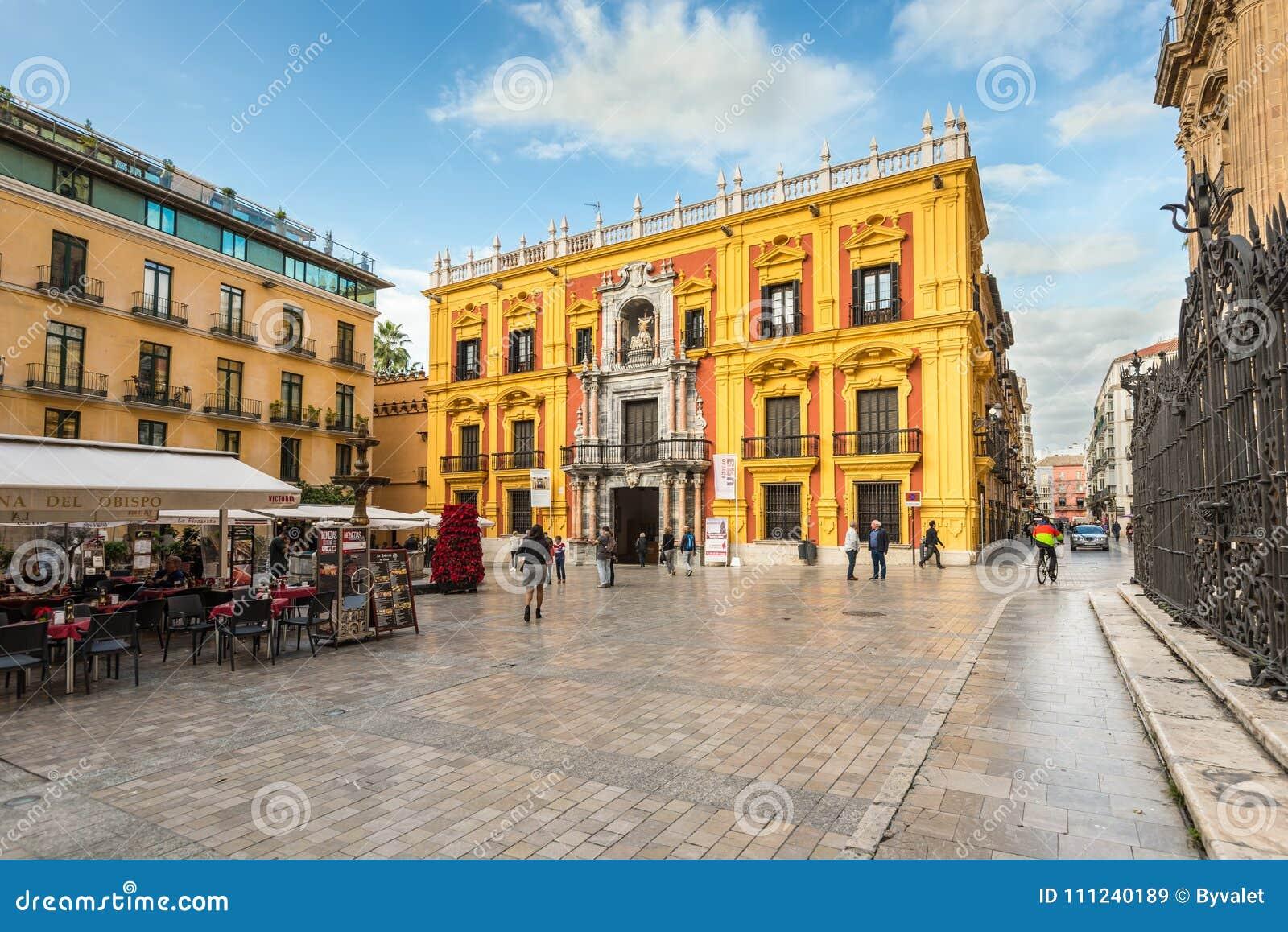 Biskop Square i Malaga, Andalusia, Spanien