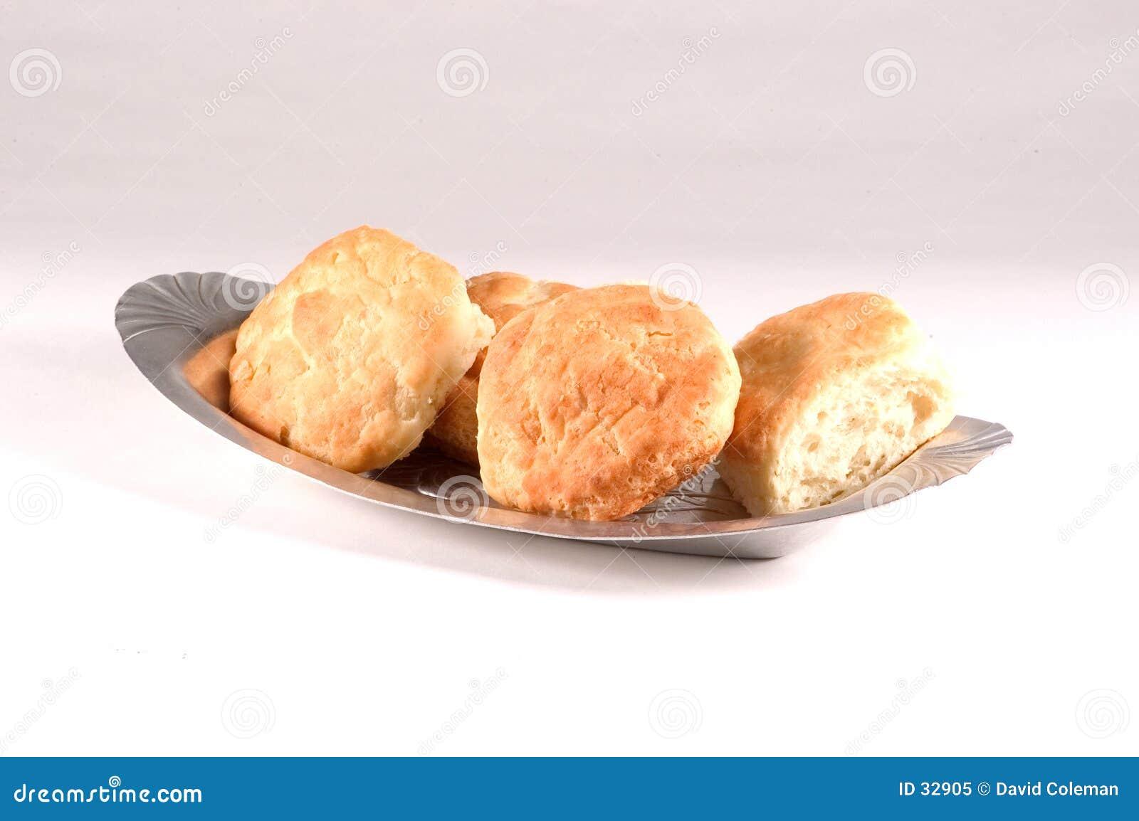 Biskuite auf einer Platte