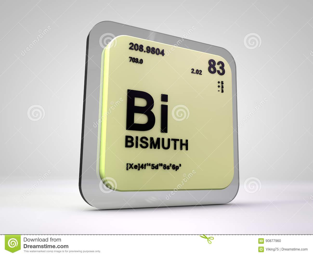 Bismuth bi chemical element periodic table stock illustration bismuth bi chemical element periodic table buycottarizona