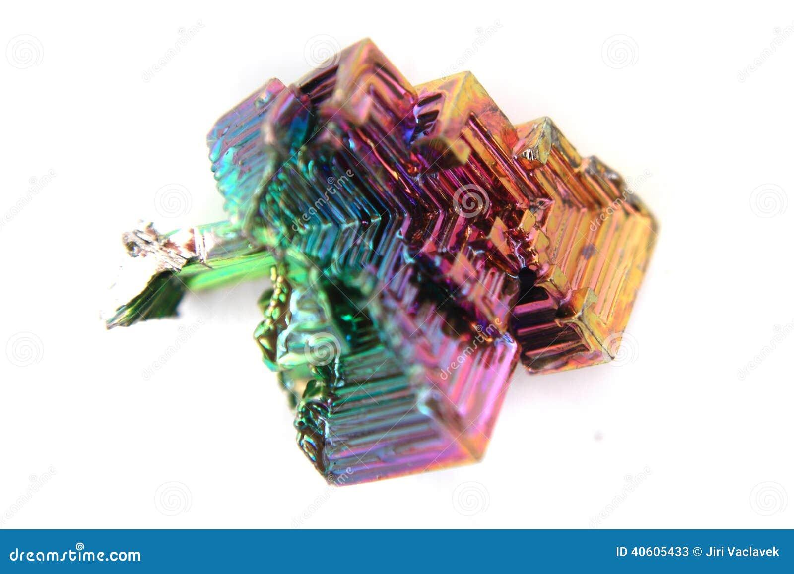 bismuth bismuthum bi color metal crystal stock photo image 40605433. Black Bedroom Furniture Sets. Home Design Ideas