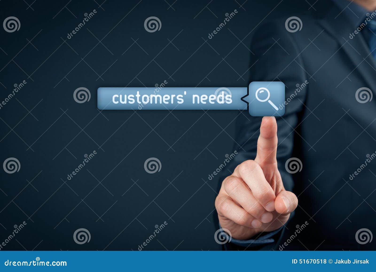 Bisogni dei clienti
