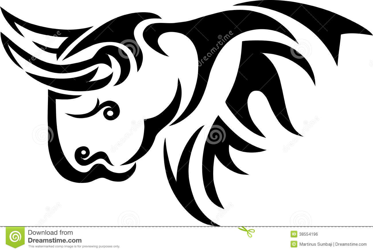 Bison Tribal Royalty Free Stock Image - Image: 38554196 Angry Black Wolf Drawing
