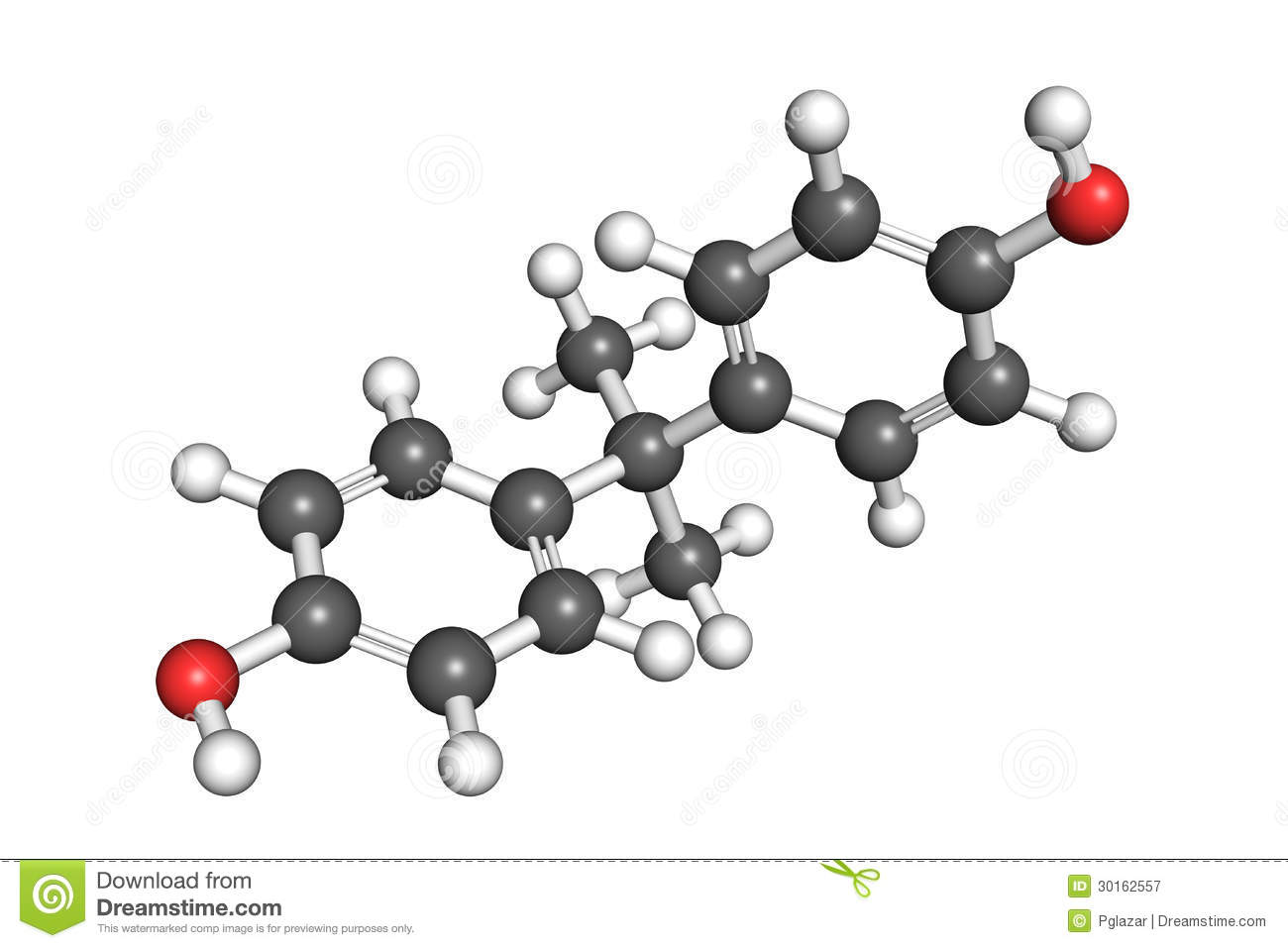 bisphenol a structure royalty free stock photography