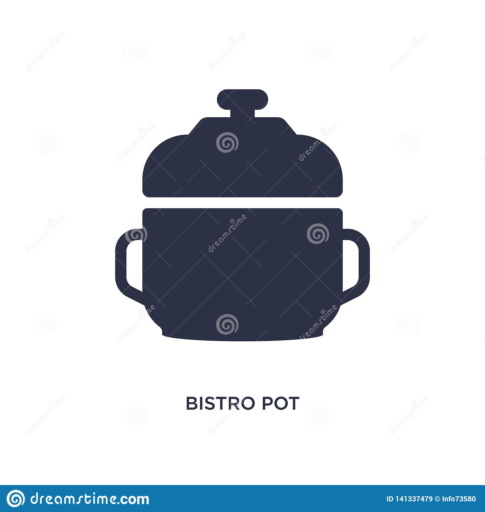bistro pot icon on white background. Simple element illustration from bistro and restaurant concept