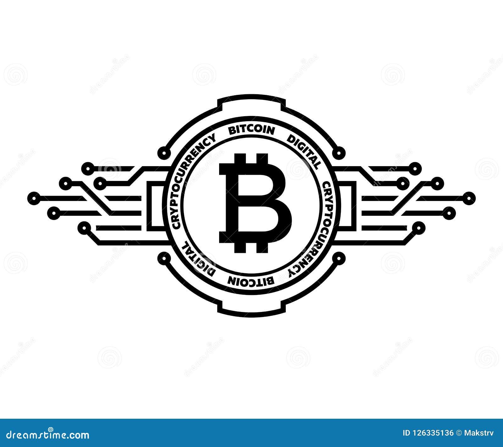 Bitcoin Abstract Silver Symbol Of Internet Money Digital Crypto