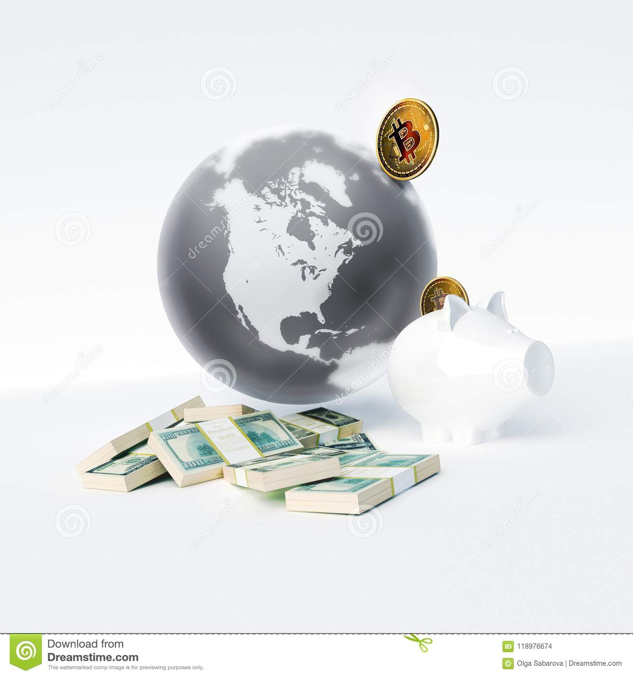 Bitcoin As A Symbol World Currency Globalization Globalize Worl