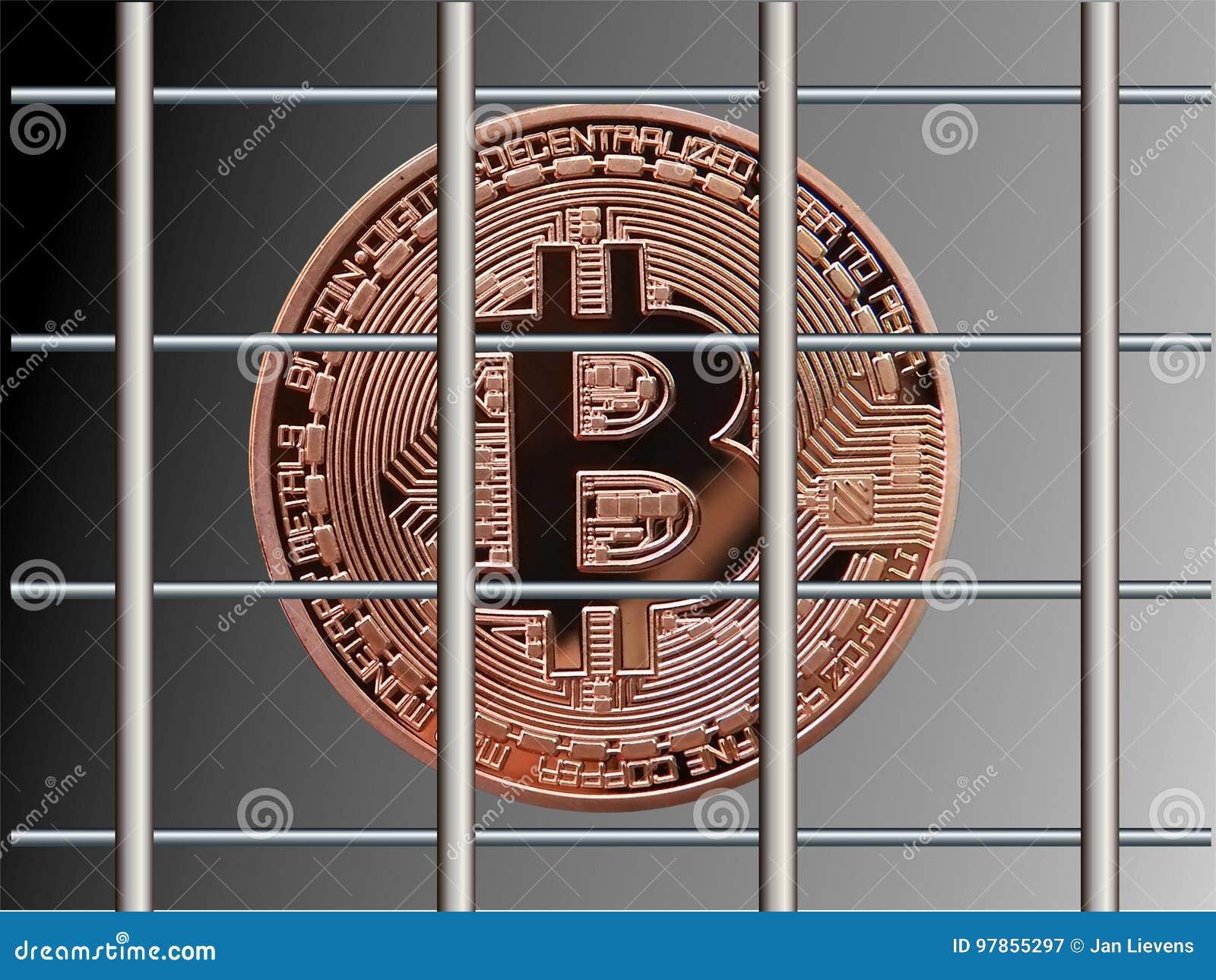 Bitcoin atrás das barras